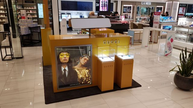 Gucci Eyewear Retail Display at Sydney Duty Free, 2018