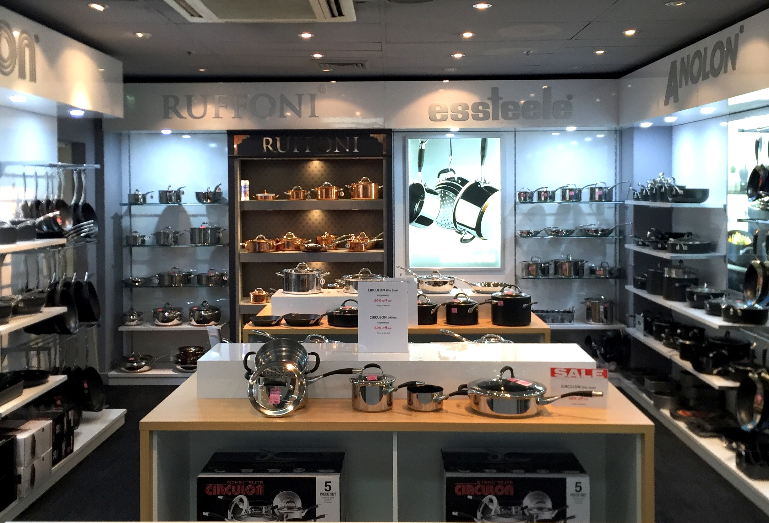 Meyer Cookware Display at Peters of Kensington, 2016