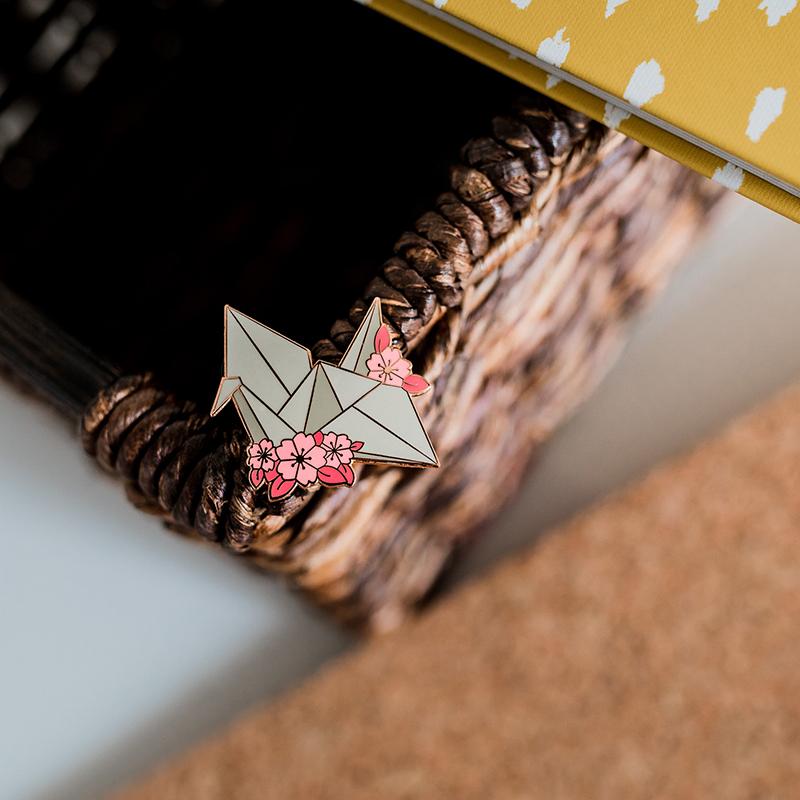 Paper Crane Enamel Pin.jpg