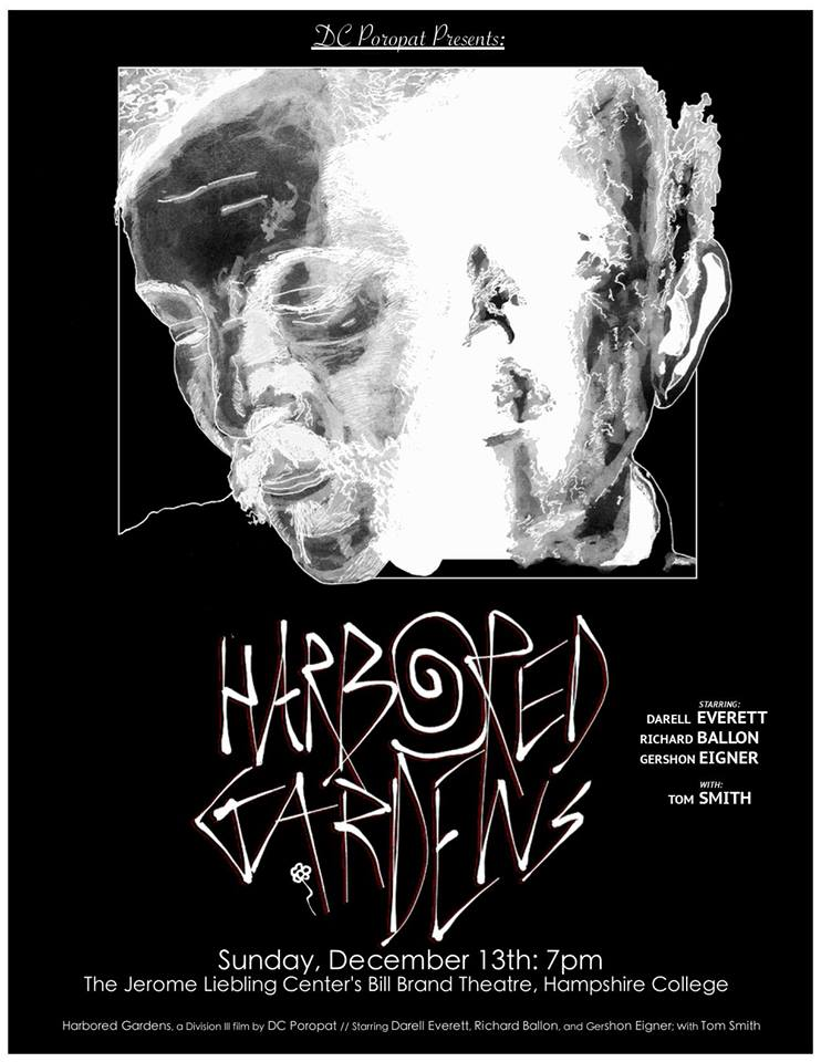 The poster for the screening night of Harbored Gardens. Illustration and Design by DC Poropat