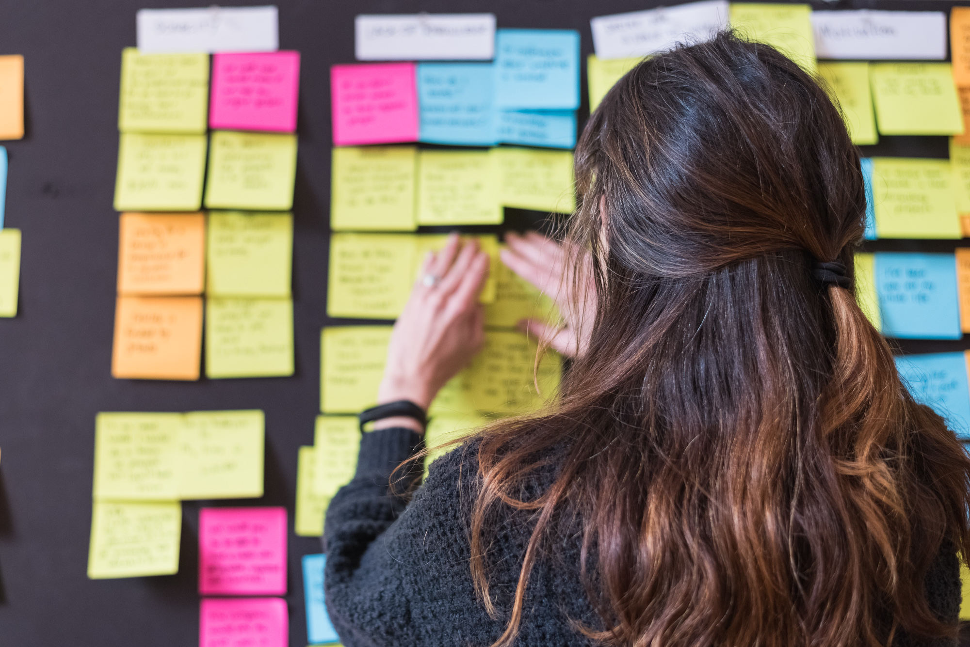 We took the feedback we received from user interviews and did some affinity mapping, which is a method of synthesizing data to look for patterns.