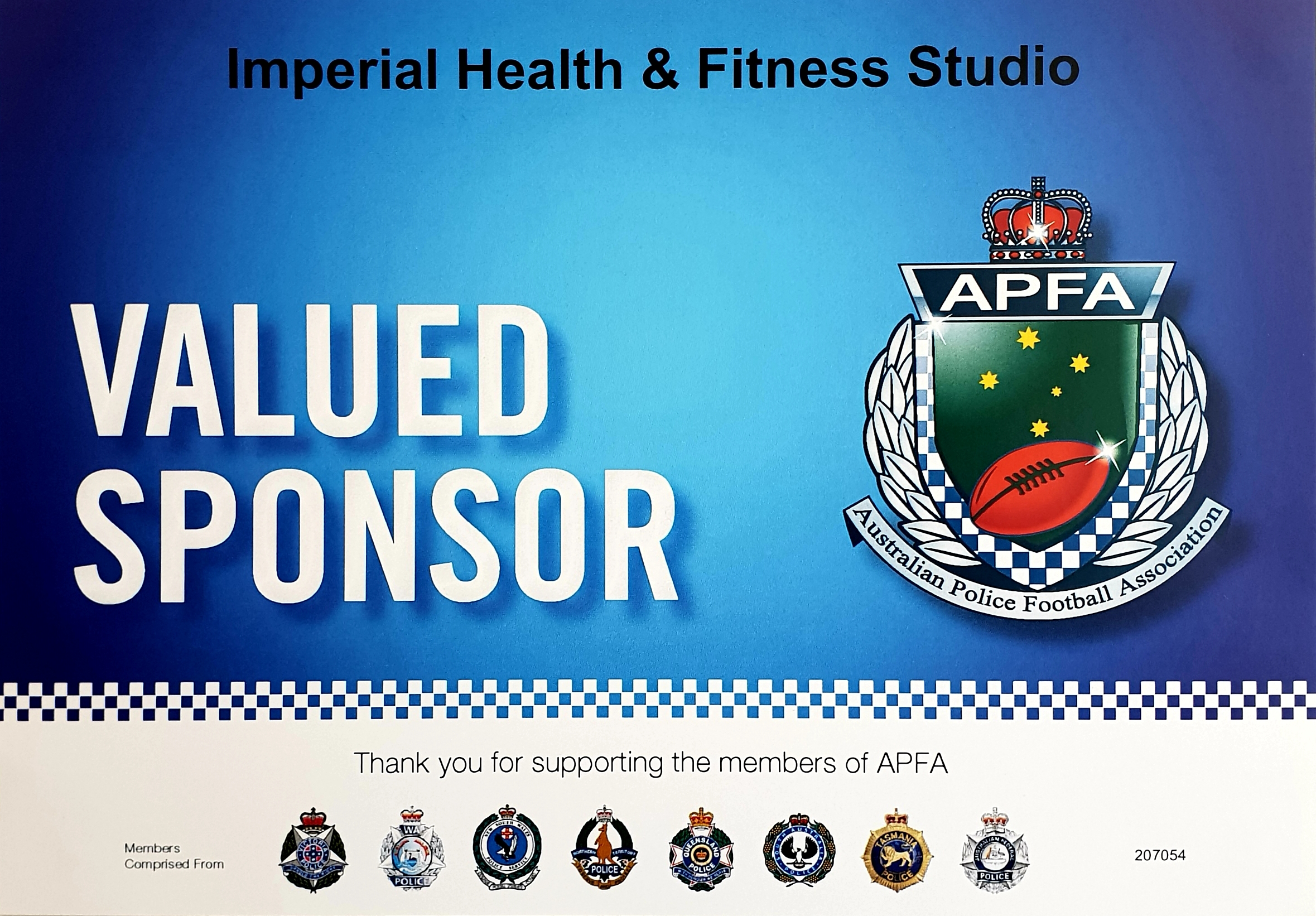 Proud Sponsor of the Australian Police Football Association -