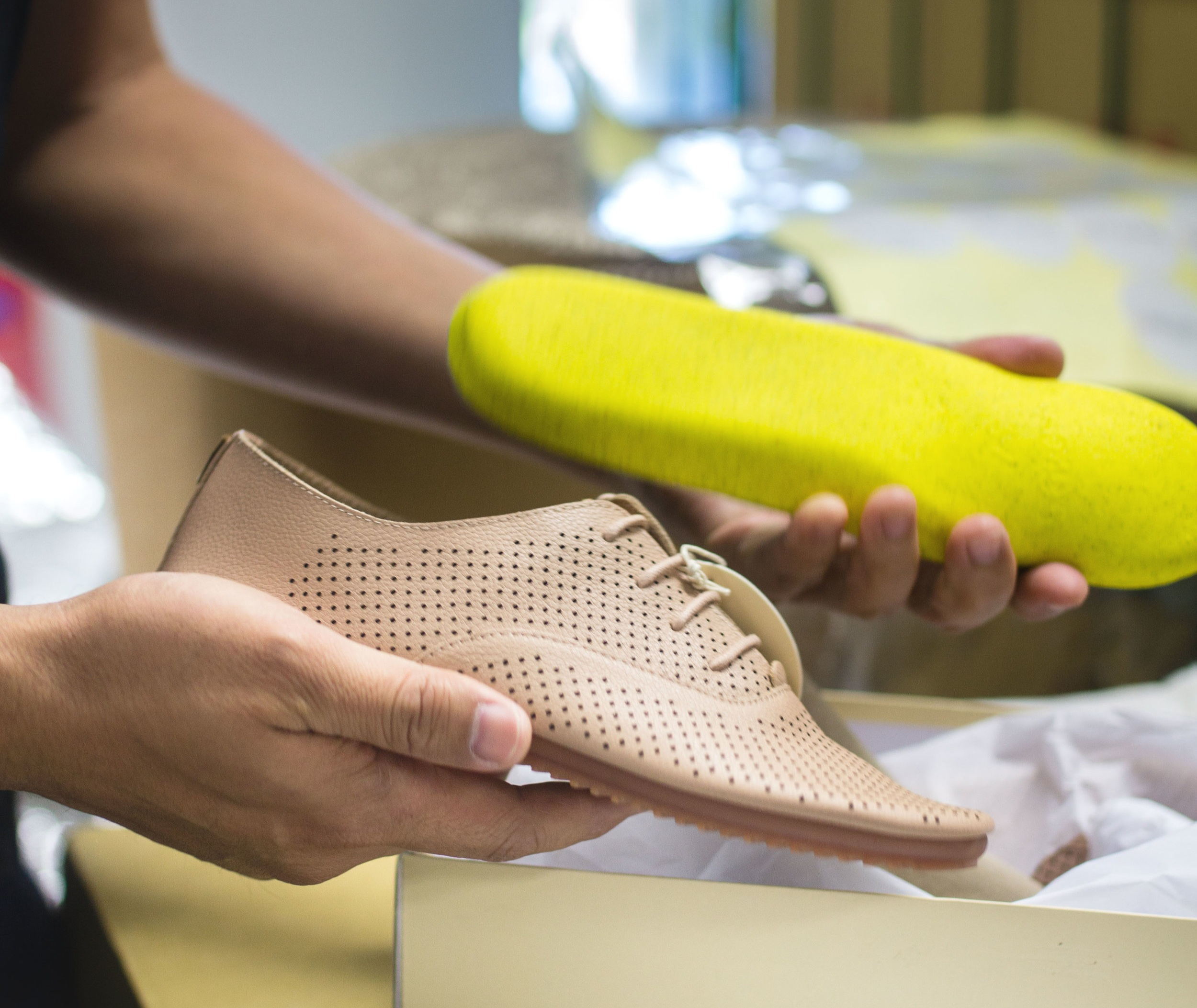 "Designing Shoes - ""Weight is a major issue when you travel. Anothersole shoes are breathable, come with a removable sports footbed, and are really light too. Our new Gen II shoes are only 280 grams.For the space you need to pack two pairs of sports shoes, you can pack five pairs of Anothersole. We combined versatility and functionality; that way, you can pound the pavement for the whole day — in style — and still have no blisters."""
