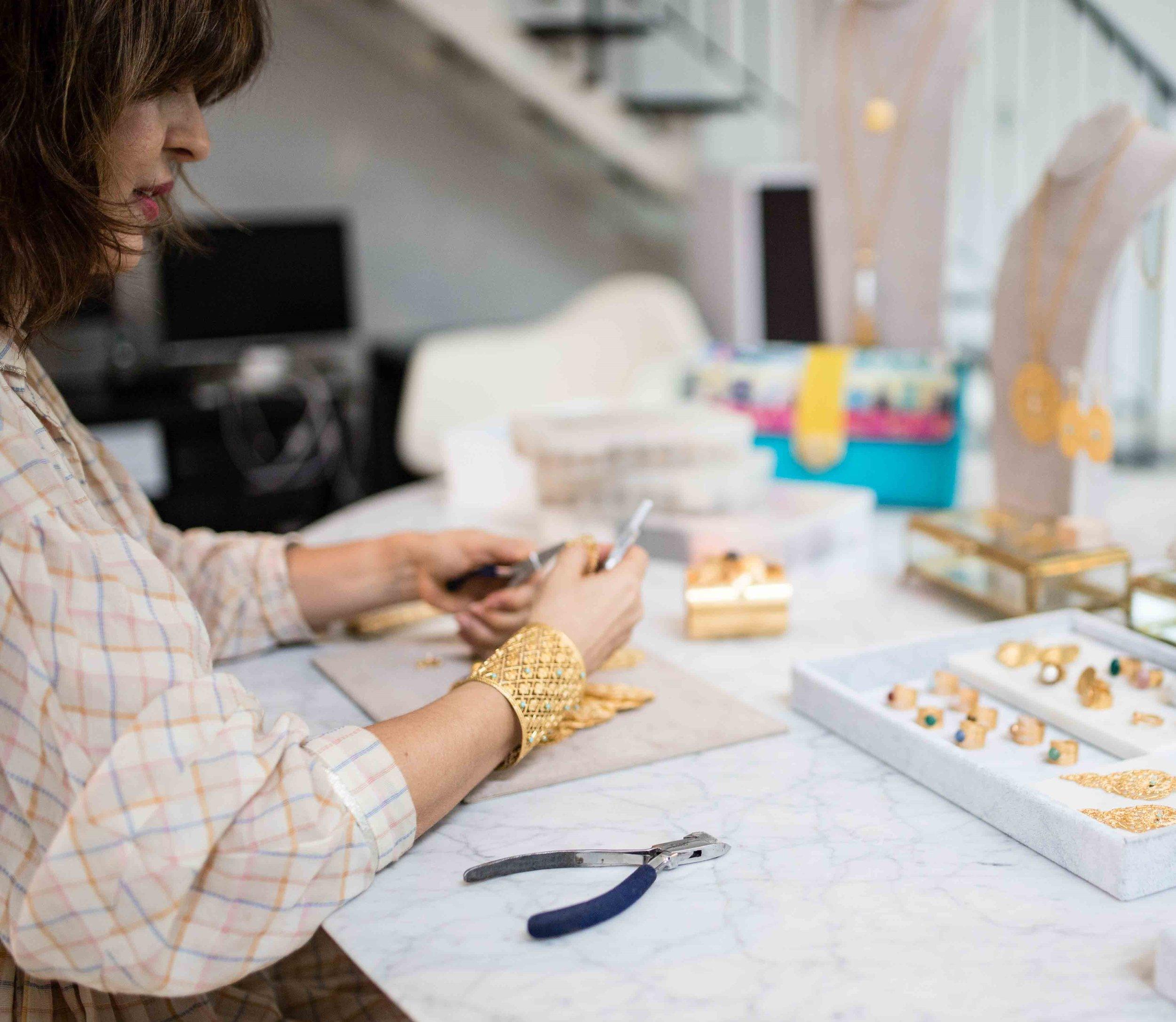 """As a Small Business Owner… - """"My business invades every moment of my life and I need to continuously learn every single day. It's really hard but I love my work.I'm driven by my passion for craftmanship and being able to see what I can create every day always gives me the biggest satisfaction."""