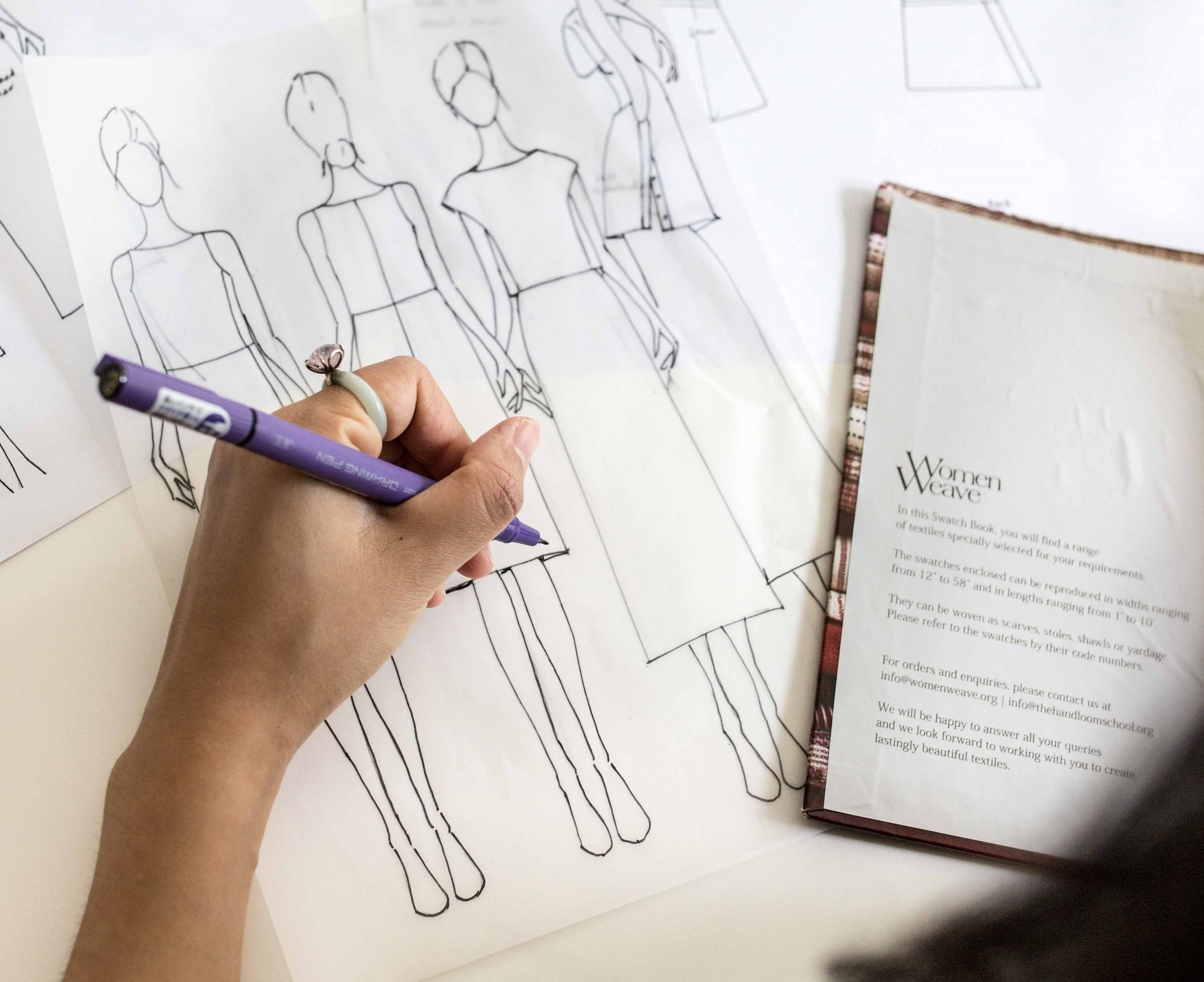 """- """"They love listening to Vietnamese pop songs while working. They work from 10am to 7pm, and usually have a homecooked lunch in the studio before heading back to work. Conecting with the seamstresses who make the garments definitely reinforces the need for Esse to help people value craftmanship and the hands behind each piece of clothing."""""""