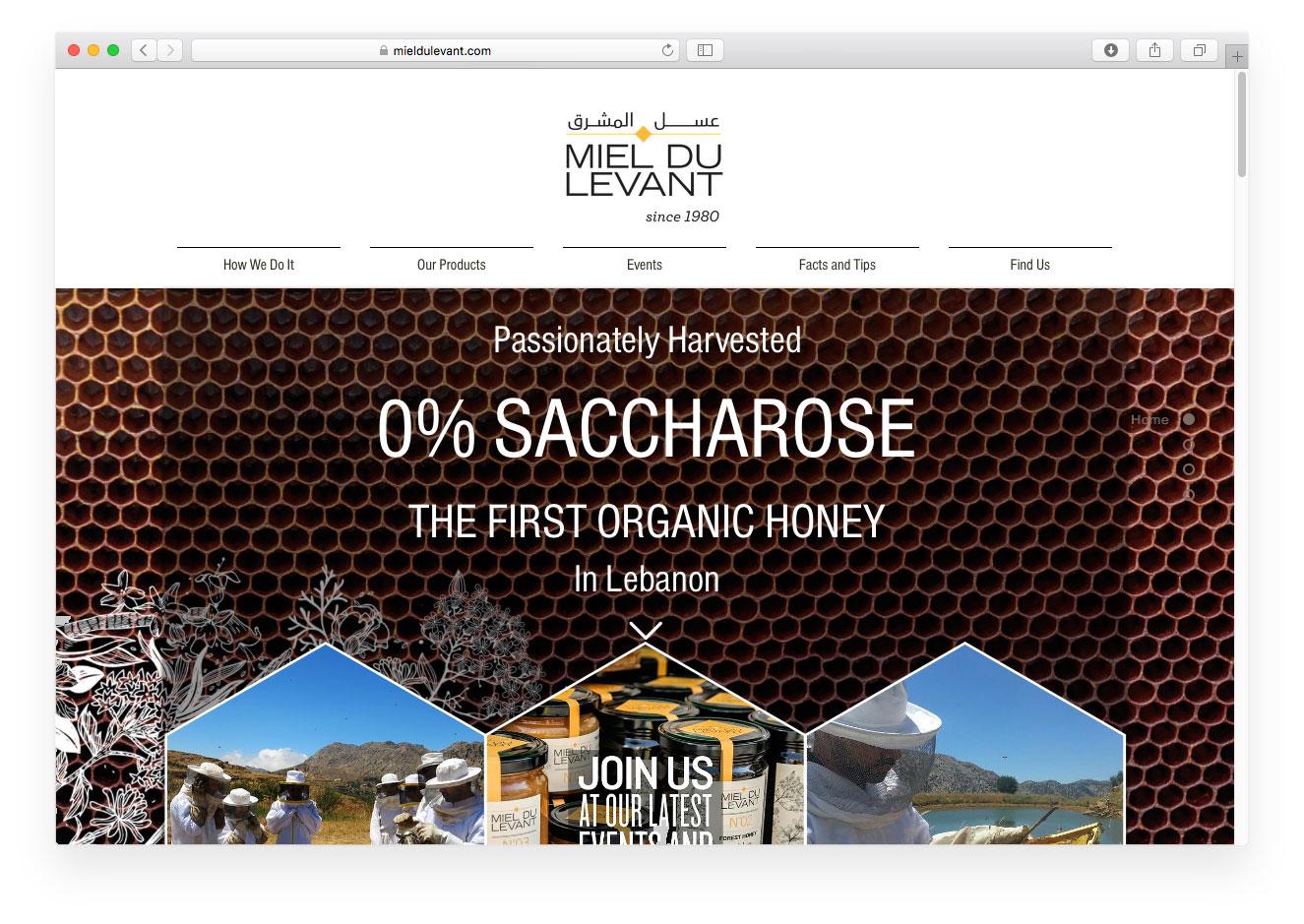 Miel du Levant website