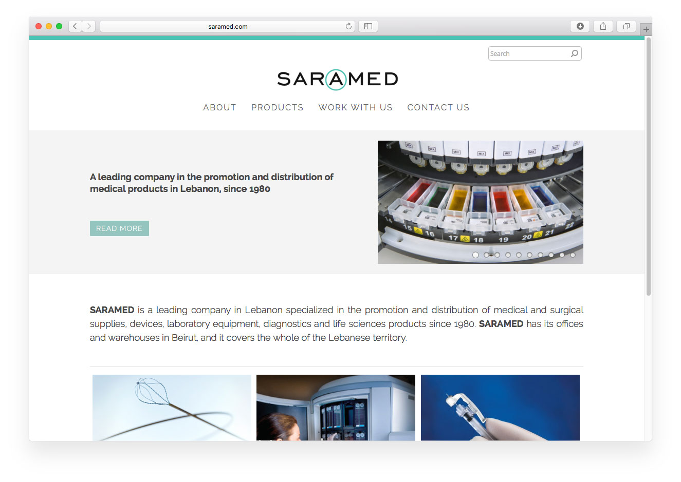 Saramed website
