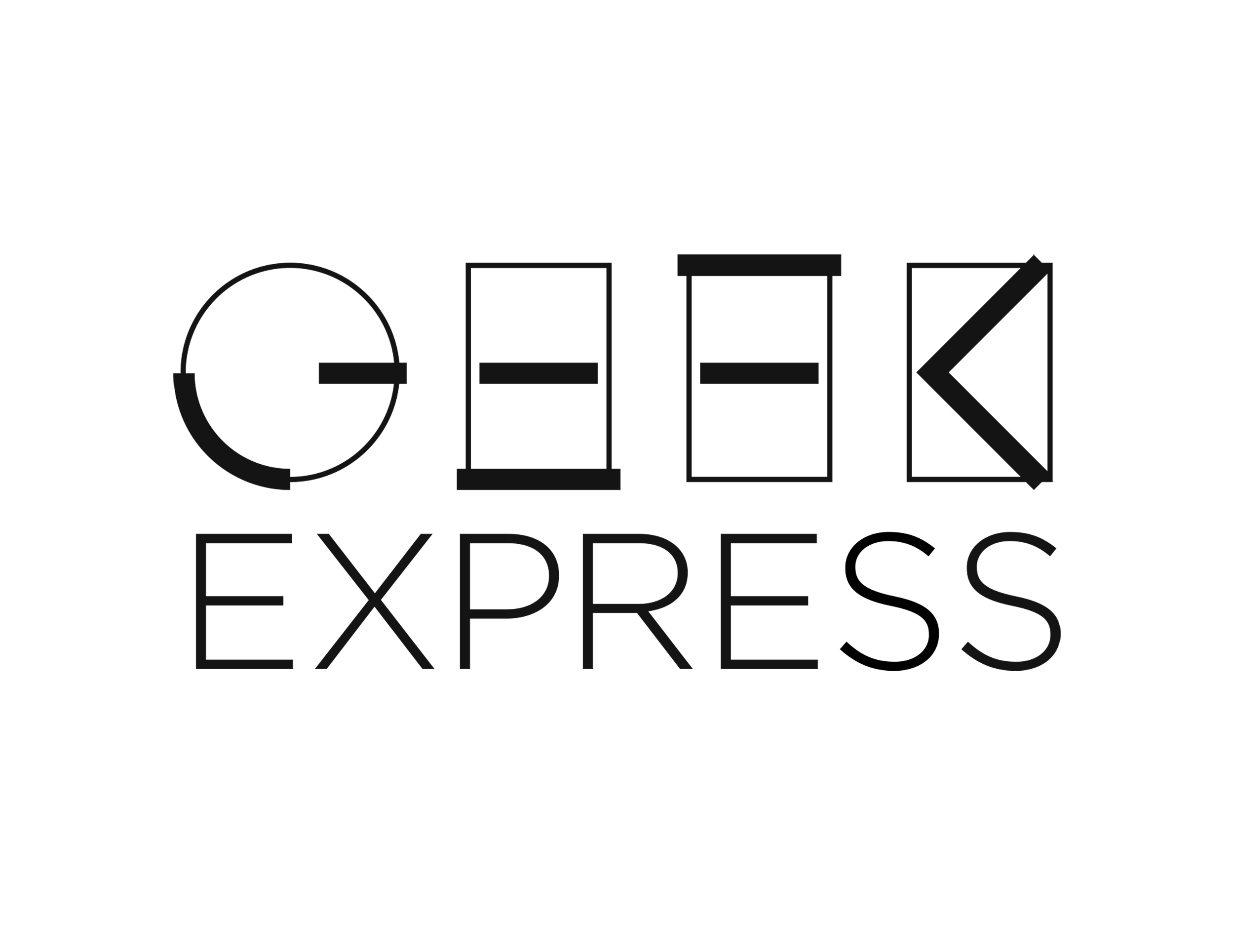 Geek Express | Black & White logo