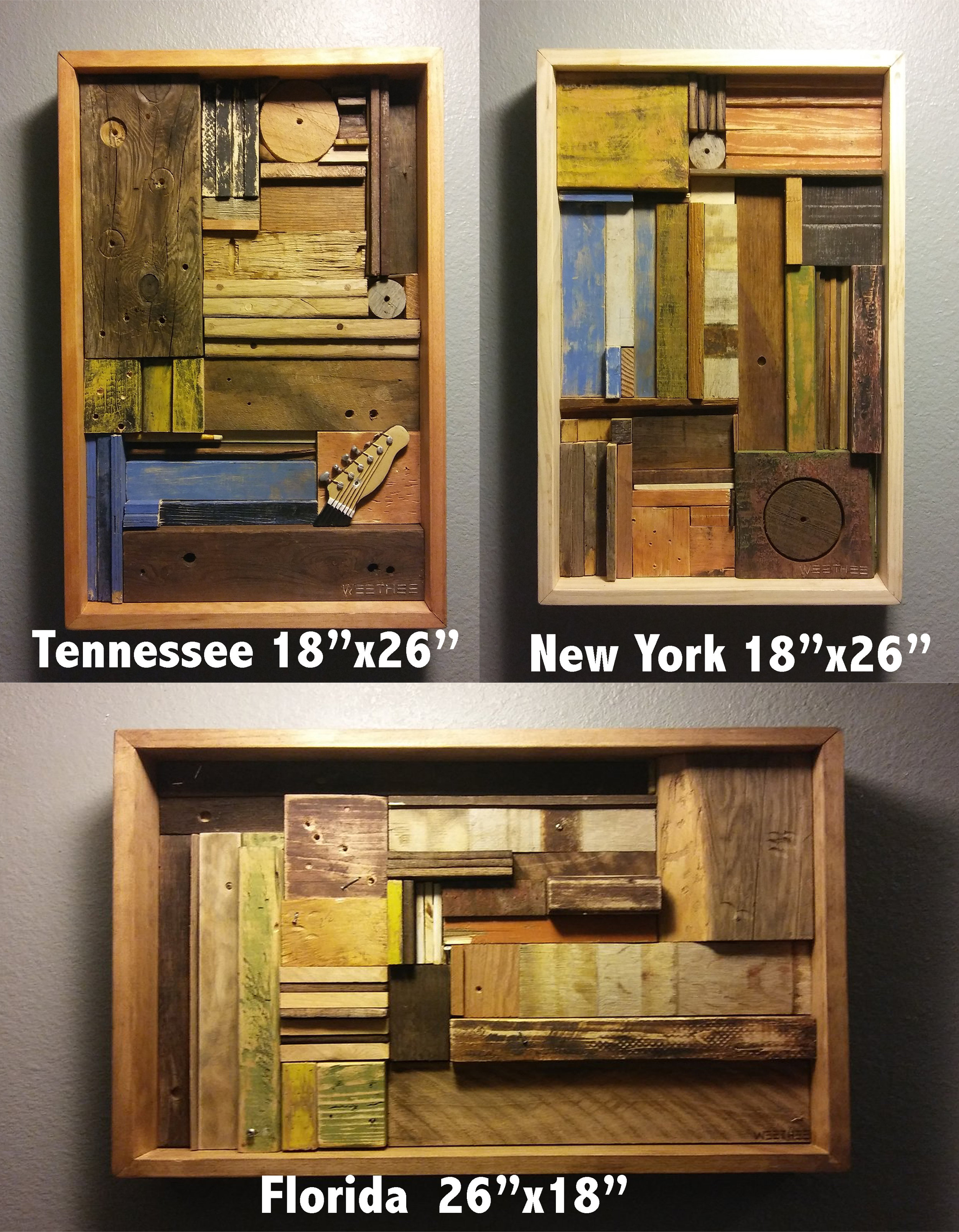 Here is a peak at some of our mixed media art for rent