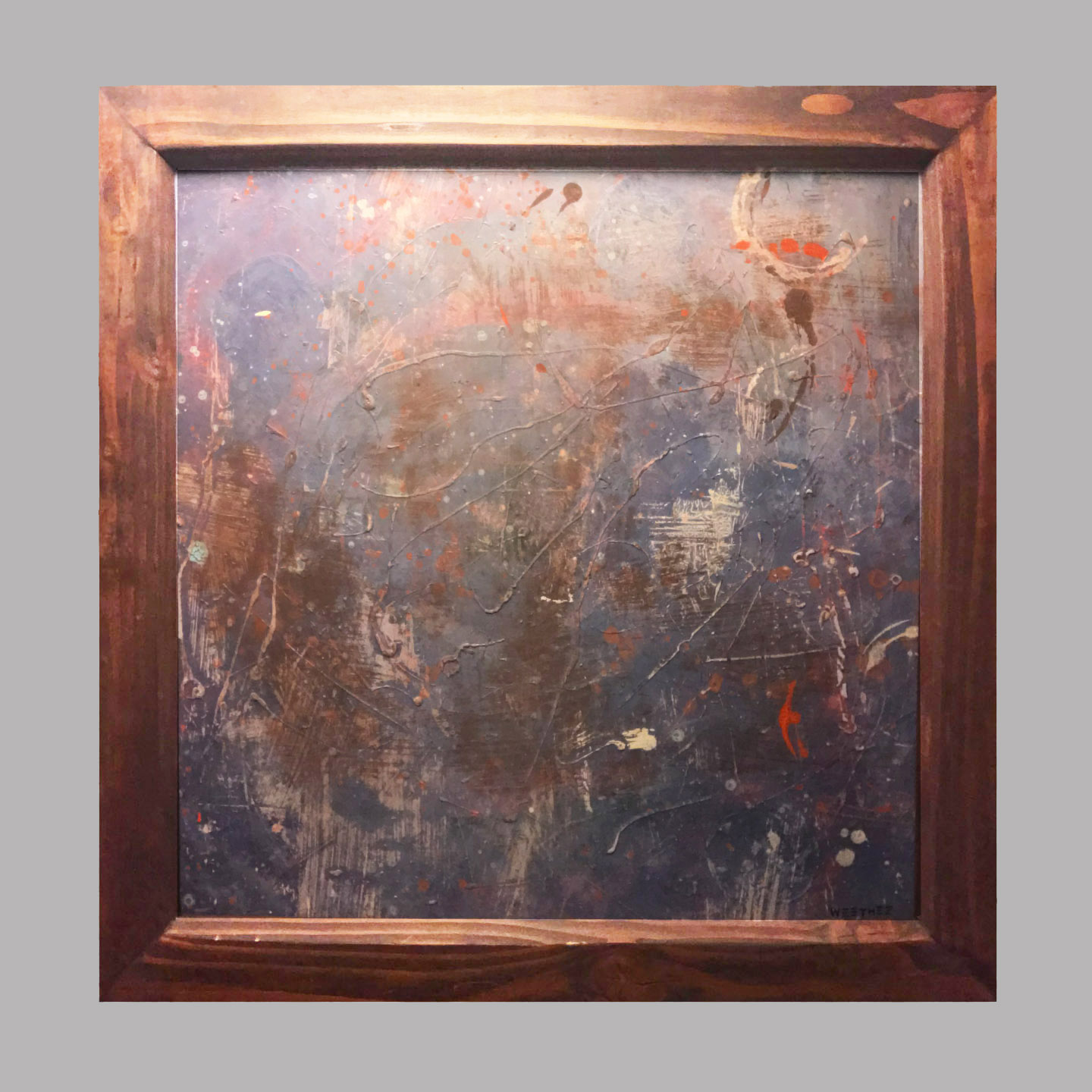 """Clouded 30""""x30"""" $70/wk"""