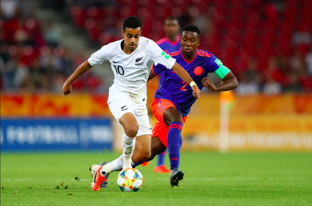 Sarpreet Singh in action against Colombia.