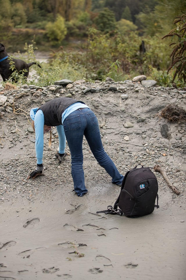 I found a bit of quicksand. Image by Charlotte Reeves while having a laugh…then helping me get free.