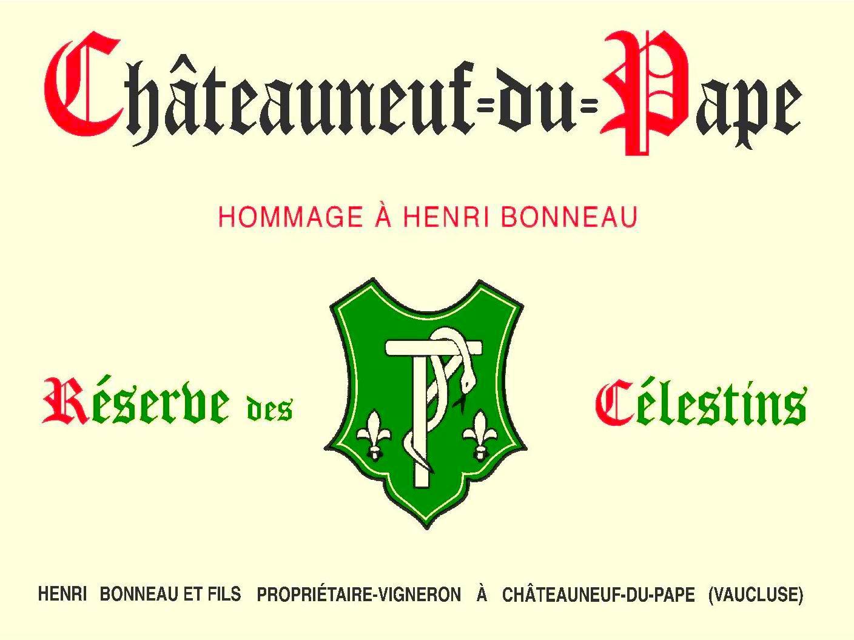 the new  hommage à henri bonneau  label, especially for the 2014 vintage of both  cuvée marie beurrier  and  réserve des celestins