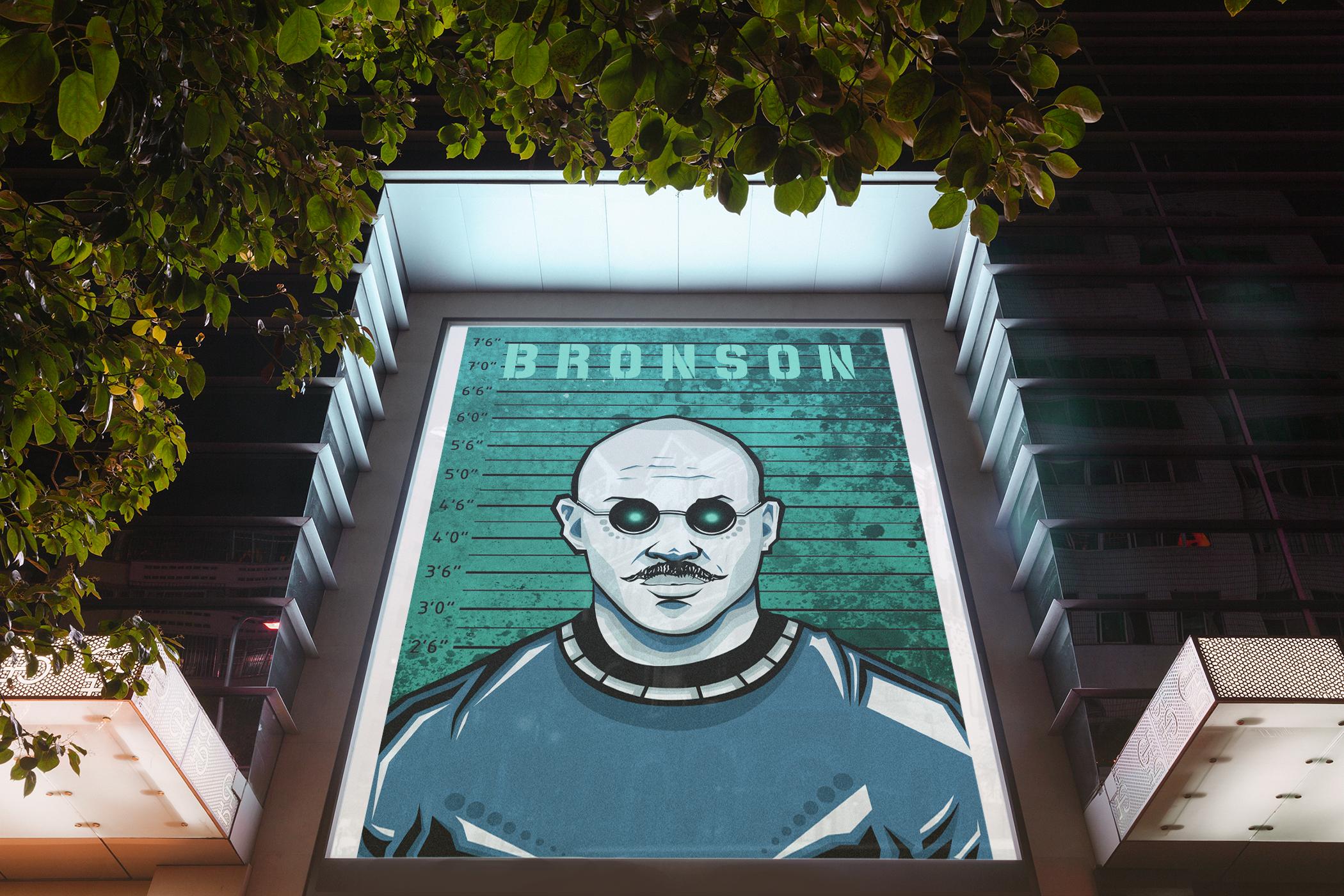 Mockup of Bronson poster.