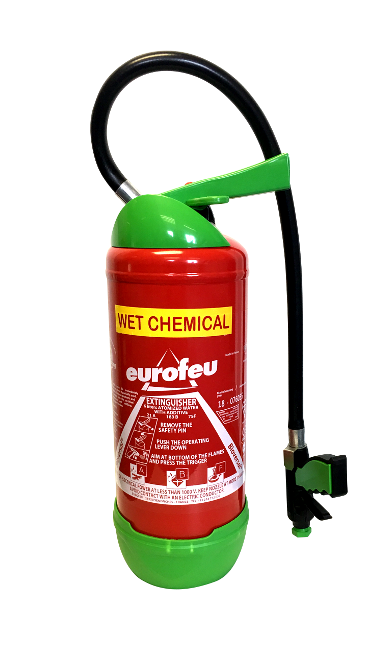 6ltr biodegradable fire extinguisher front Eurofeu
