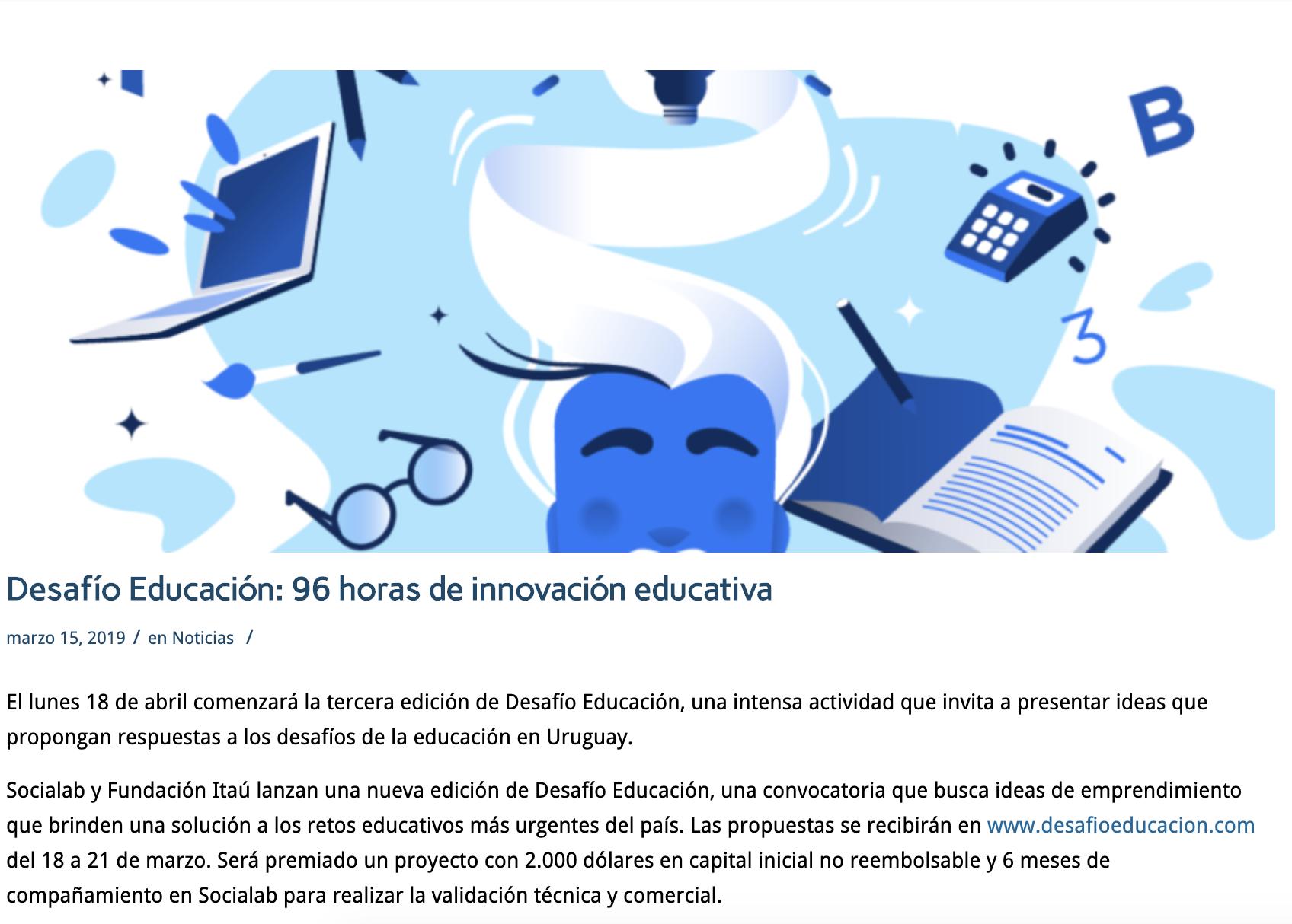 Desafío Educación: 96 horas de innovación educativa -
