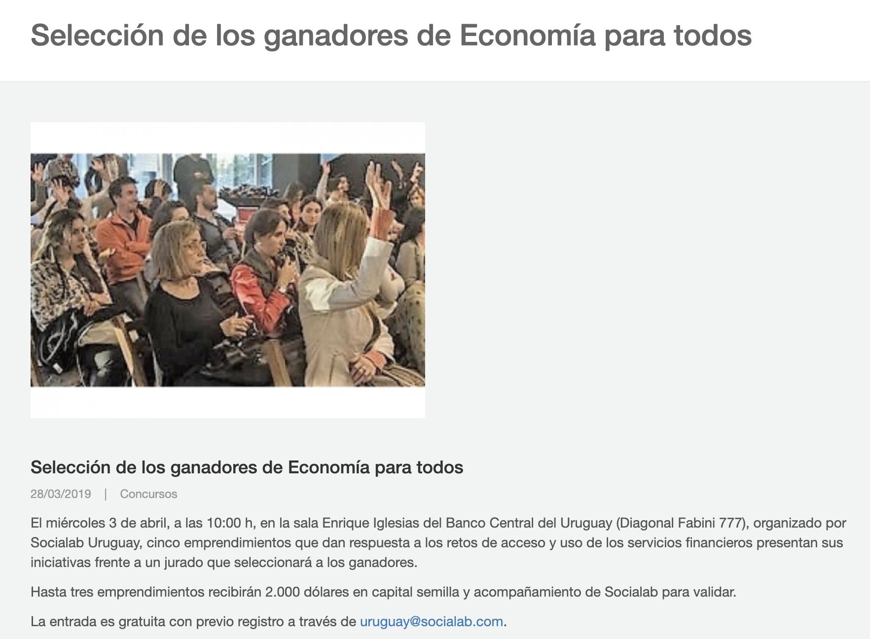 Selección de los ganadores de Economía para todos -
