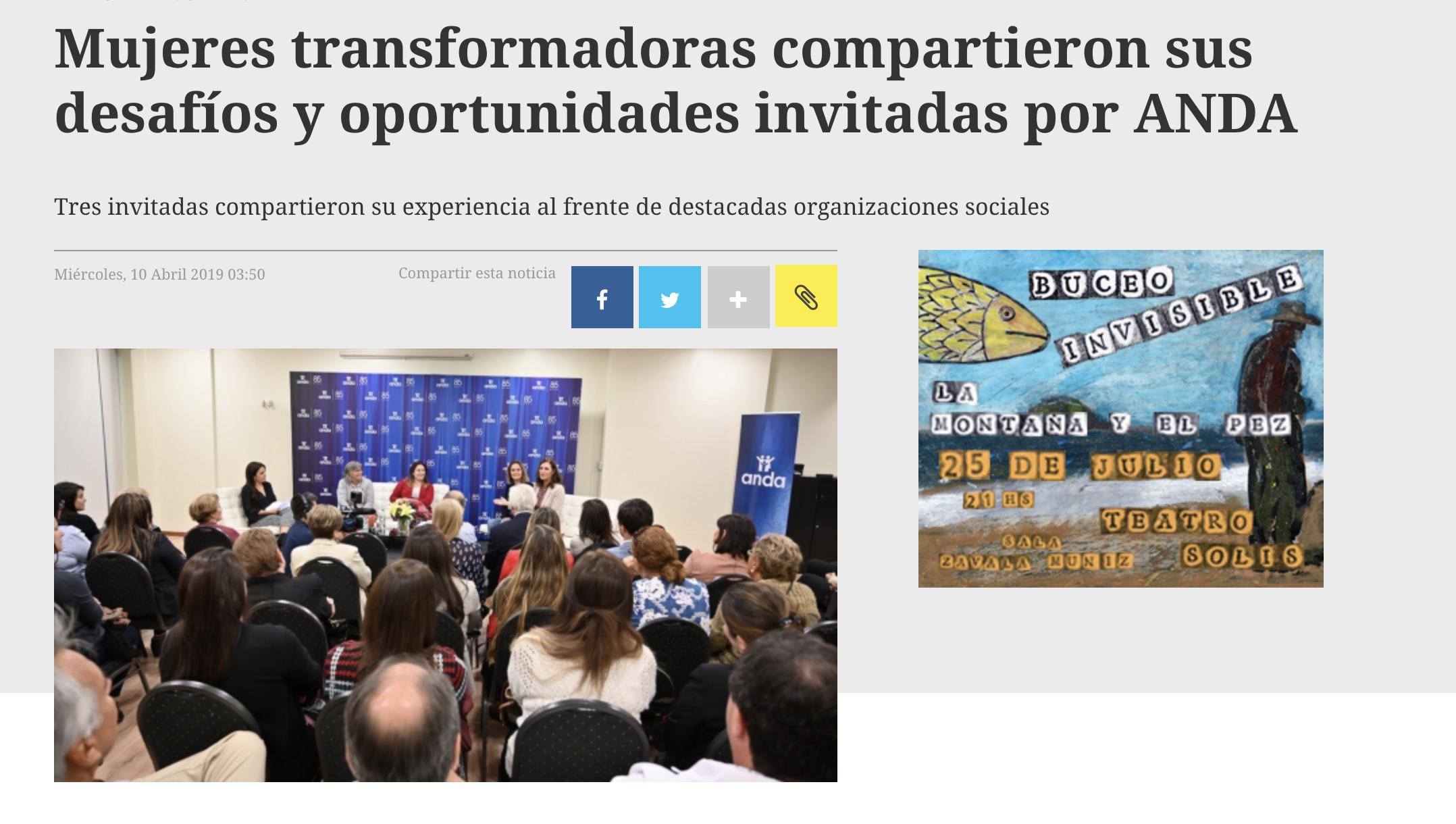 Mujeres transformadoras compartieron sus desafíos y oportunidades invitadas por ANDA -