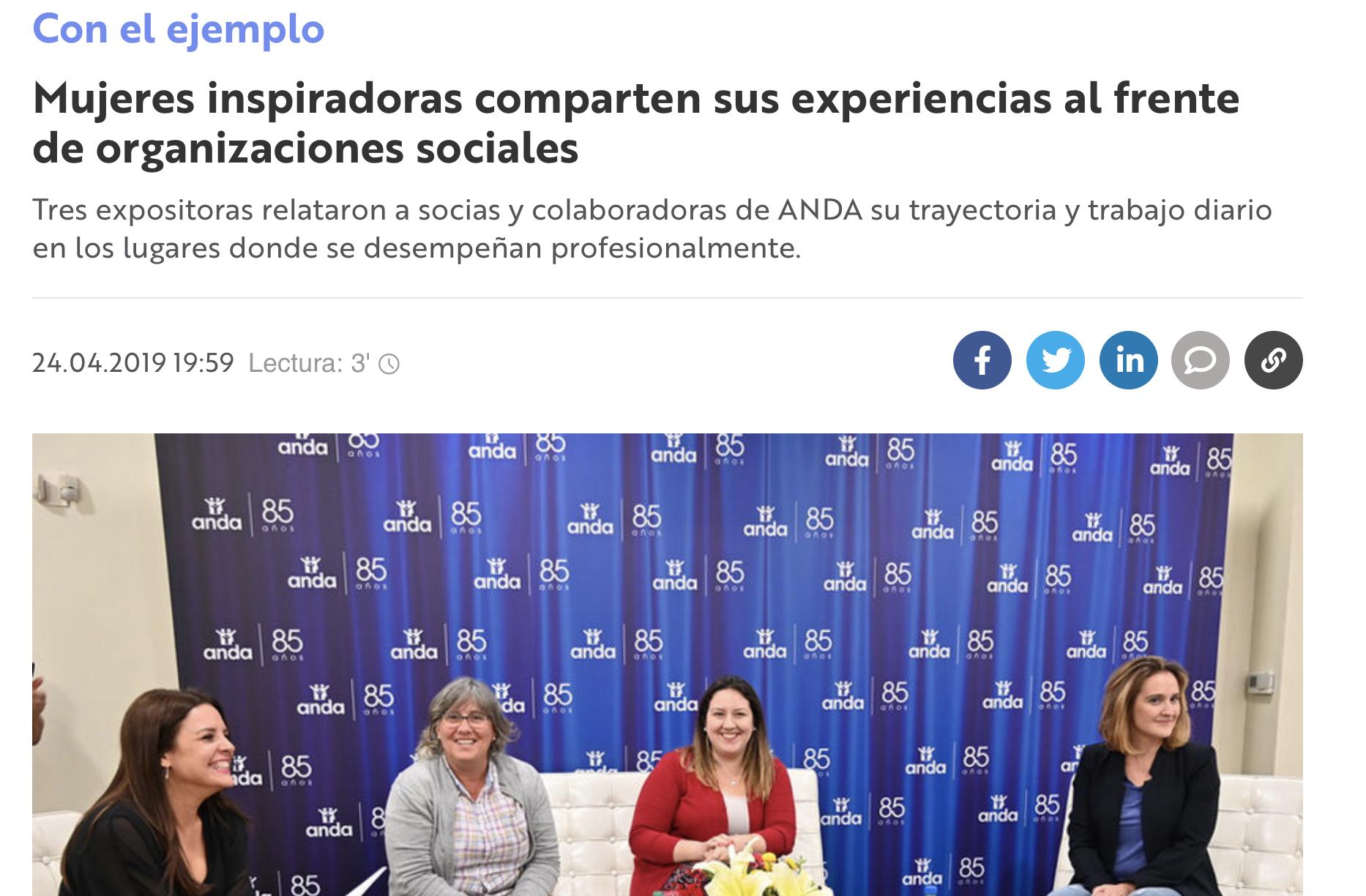 Mujeres inspiradoras comparten sus experiencias al frente de organizaciones sociales -