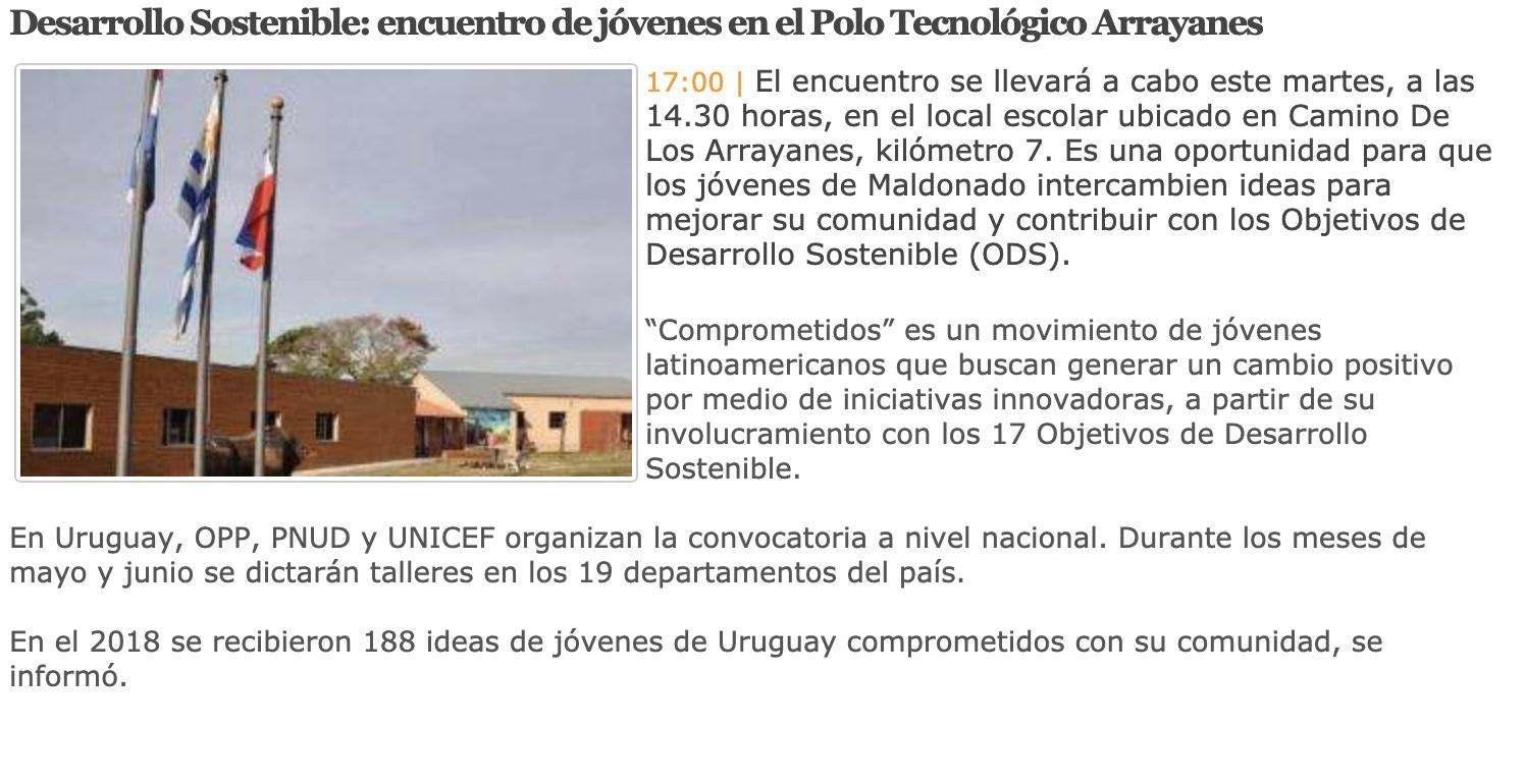 Desarrollo Sostenible: encuentro de jóvenes en el Polo Tecnológico Arrayanes -