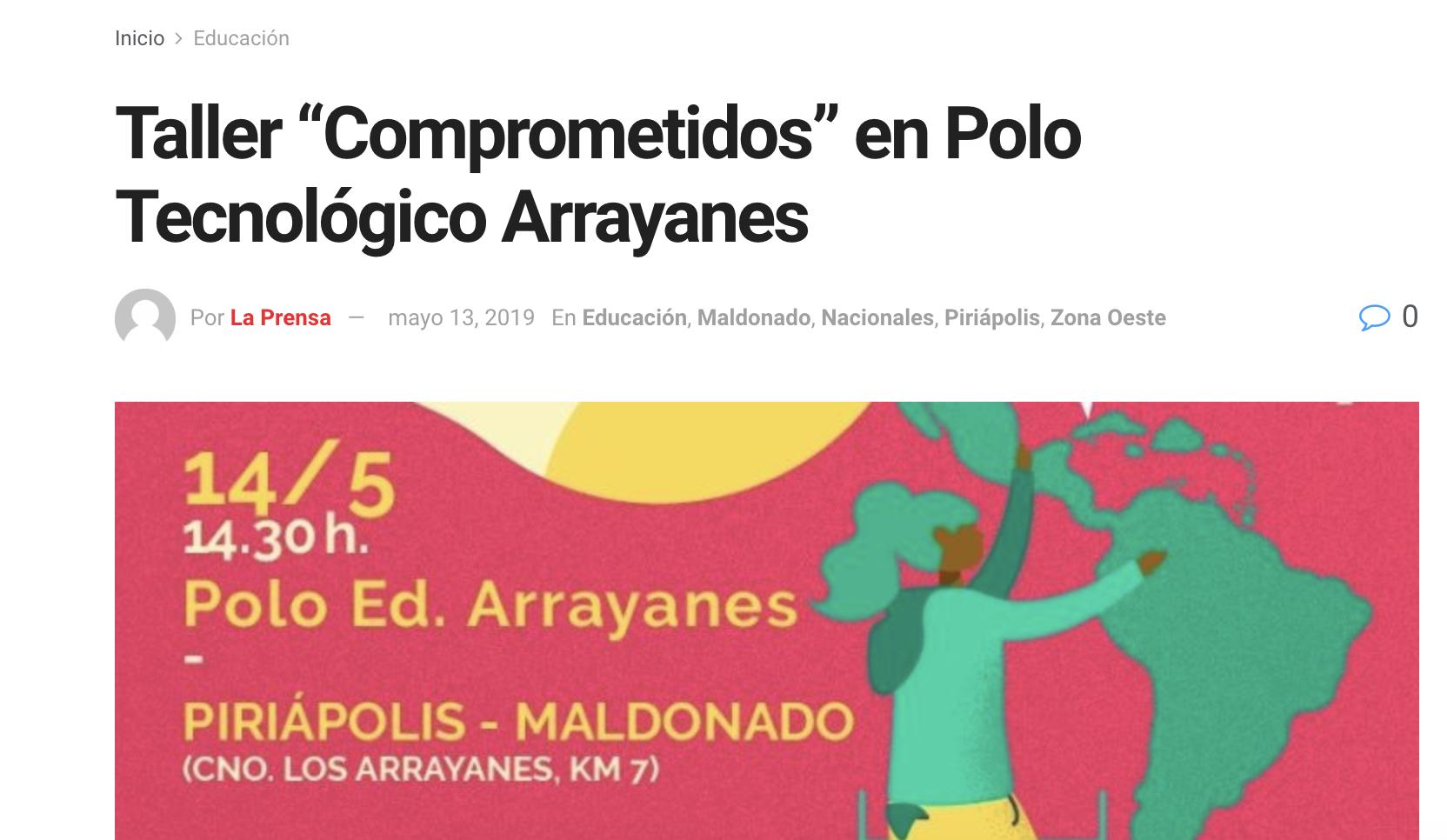 """Taller """"Comprometidos"""" en Polo Tecnológico Arrayanes -"""