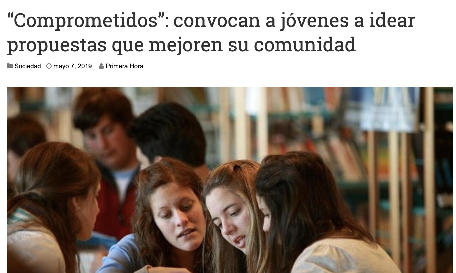 """""""Comprometidos"""": convocan a jóvenes a idear propuestas que mejoren su comunidad -"""