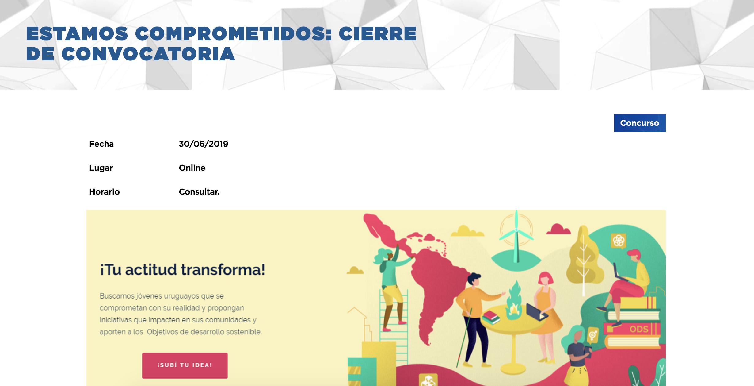 ESTAMOS COMPROMETIDOS: CIERRE DE CONVOCATORIA -