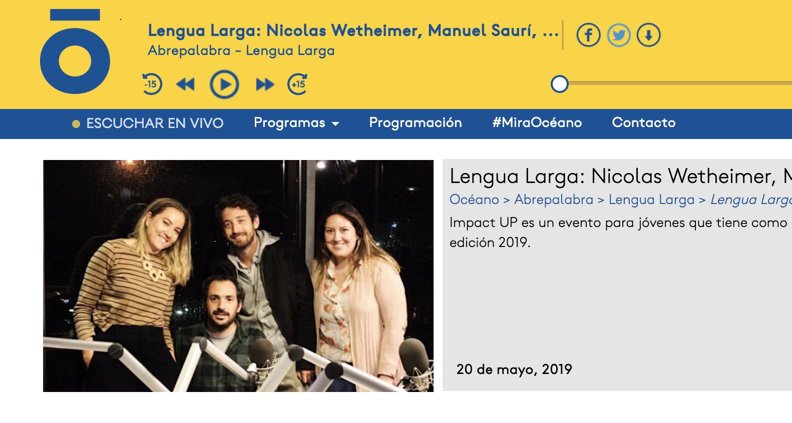 Lengua Larga: Nicolas Wetheimer, Manuel Saurí, Rocio Gonzalez y Alejandra Rossi -