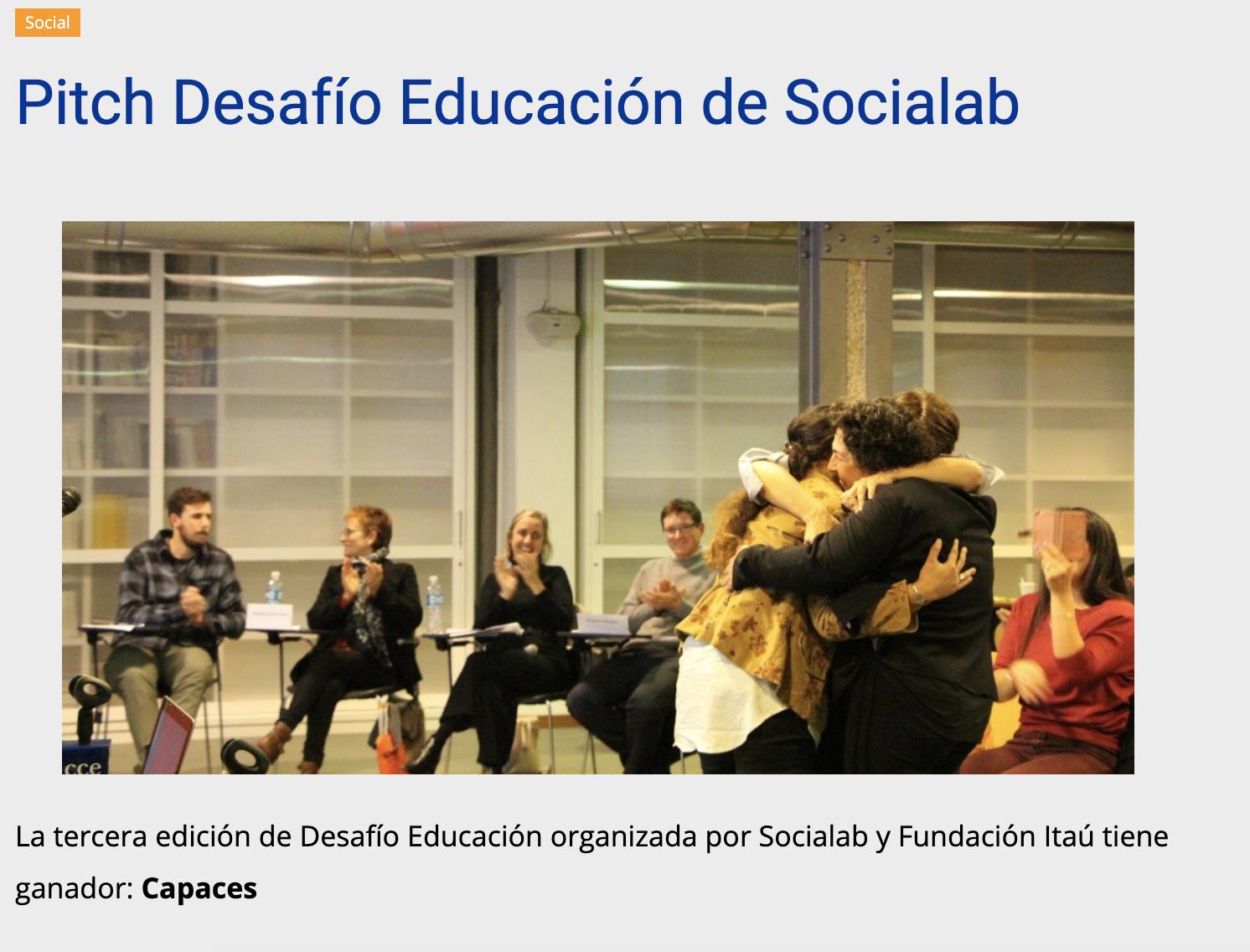 Pitch Desafío Educación de Socialab -