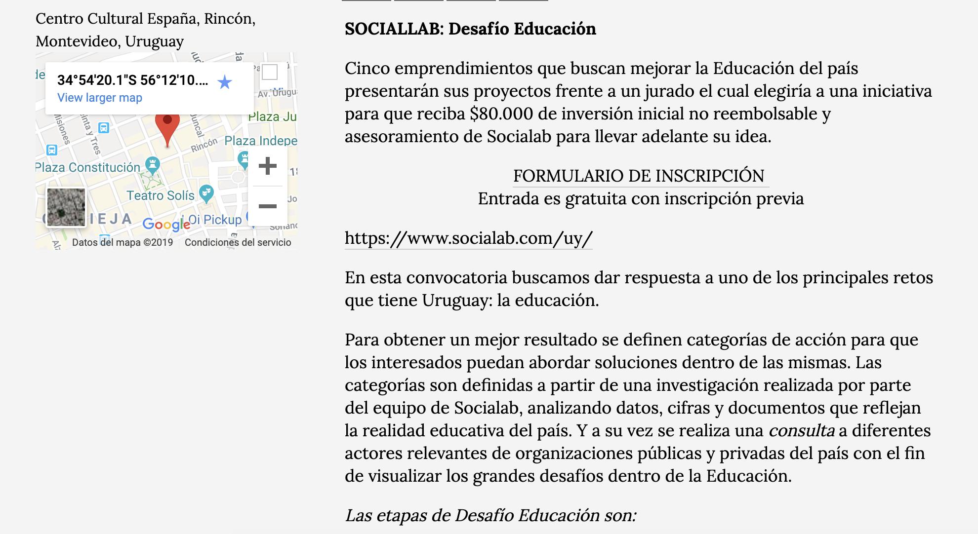 SOCIALAB: Desafío Educación -