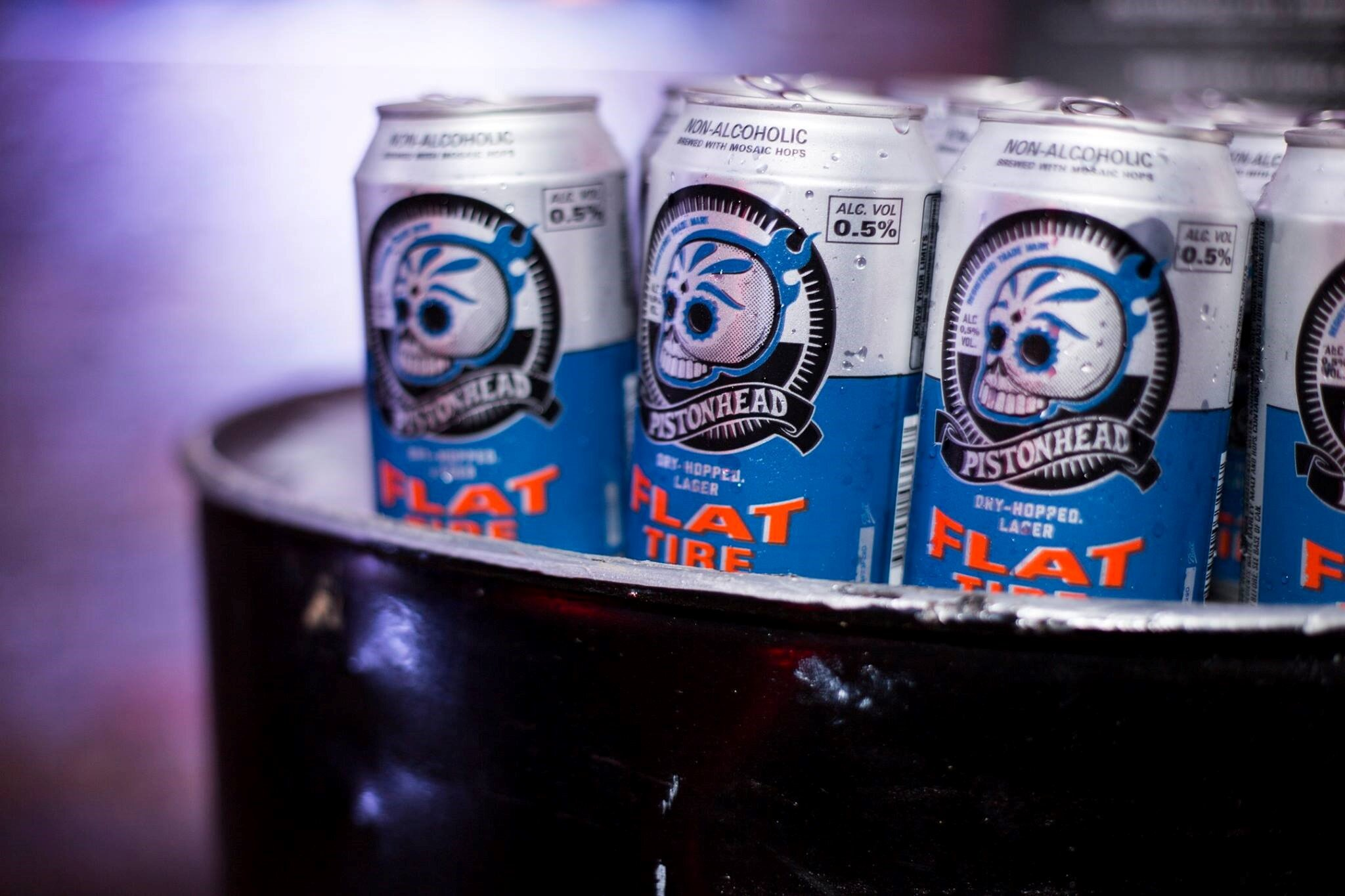 Pistonhead have a non-alcoholic version of their Flat Tire lager