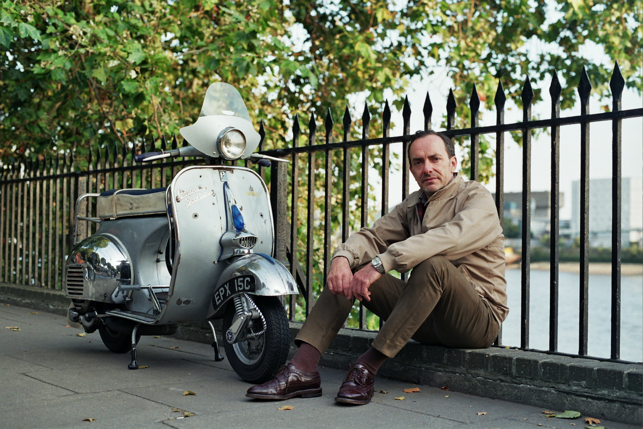 Martin in August 2016 with his 1965 Douglas Sportique Supreme (since sold). Photo by Paul Hart.