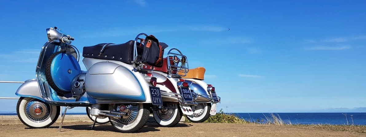 GS150 trio making for a fine sight at last year's Isle of Wight rally