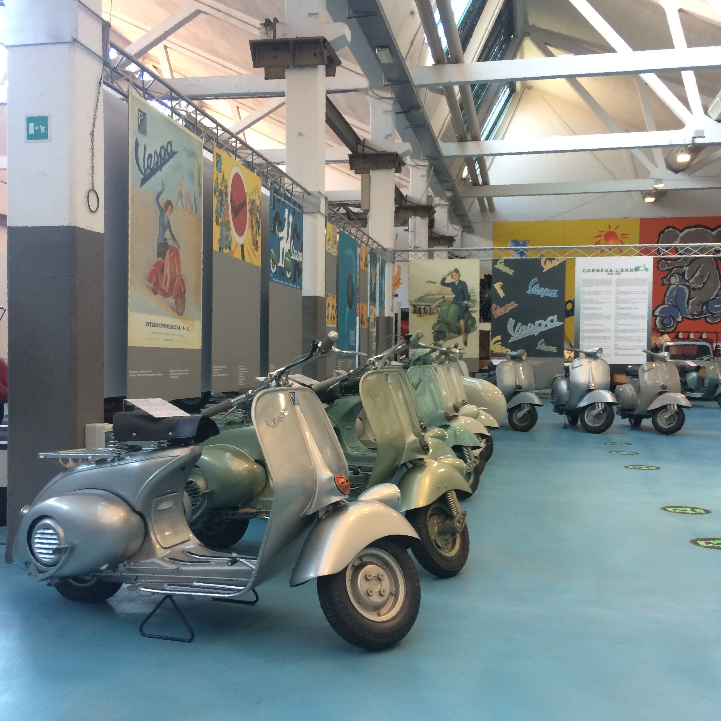 Piaggio Museum, Pontedera, October 2017 - Photo by Paul Hart