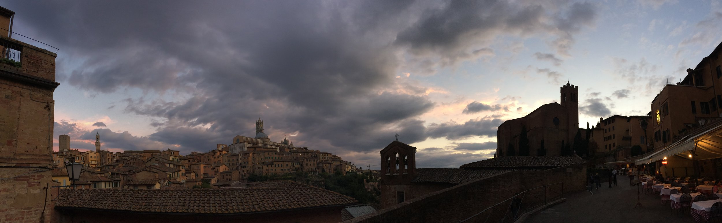 Siena at dusk.. it's hard not to love Italy! Photo by Paul Hart - October 2018