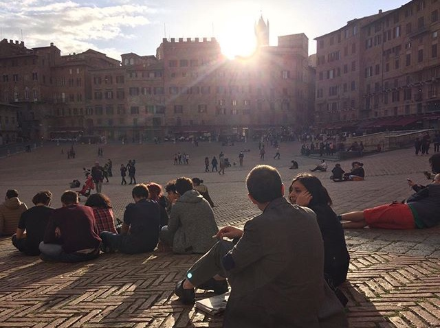There aren't many better places for an after dinner gelato than Siena's stunning Piazza Del Campo..