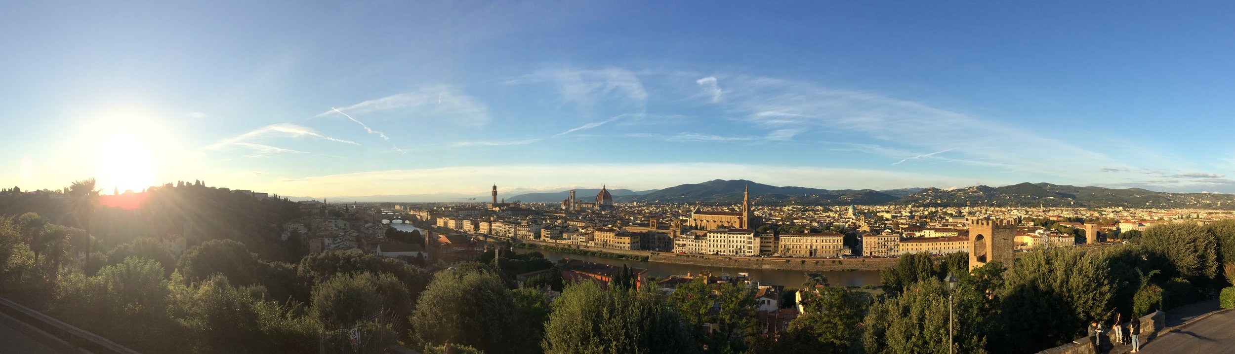 Florence seen from Piazza San Michelangelo - photo by Paul Hart, October 2018