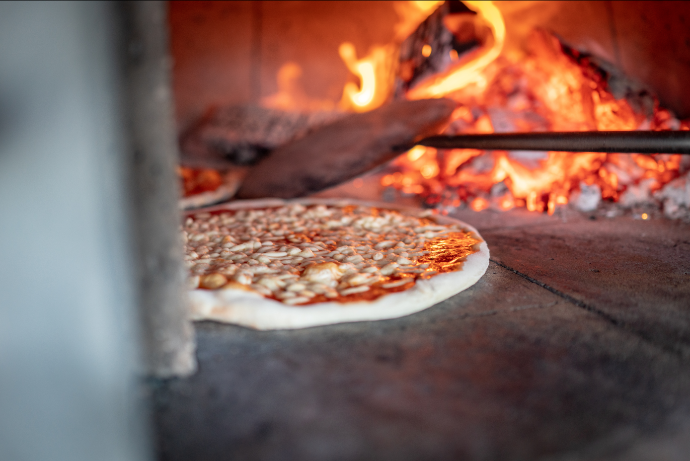…and wood-fired pizza