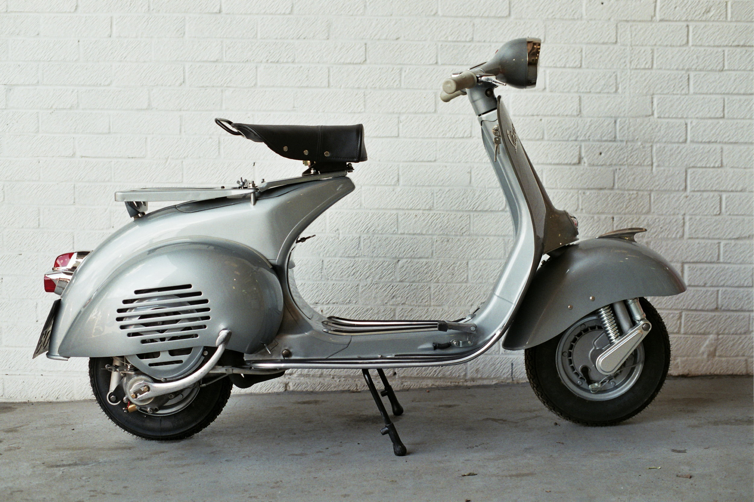 Beautiful Vespa VB1T restored by  Retrospective Scooters . Photo ©  Paul Hart