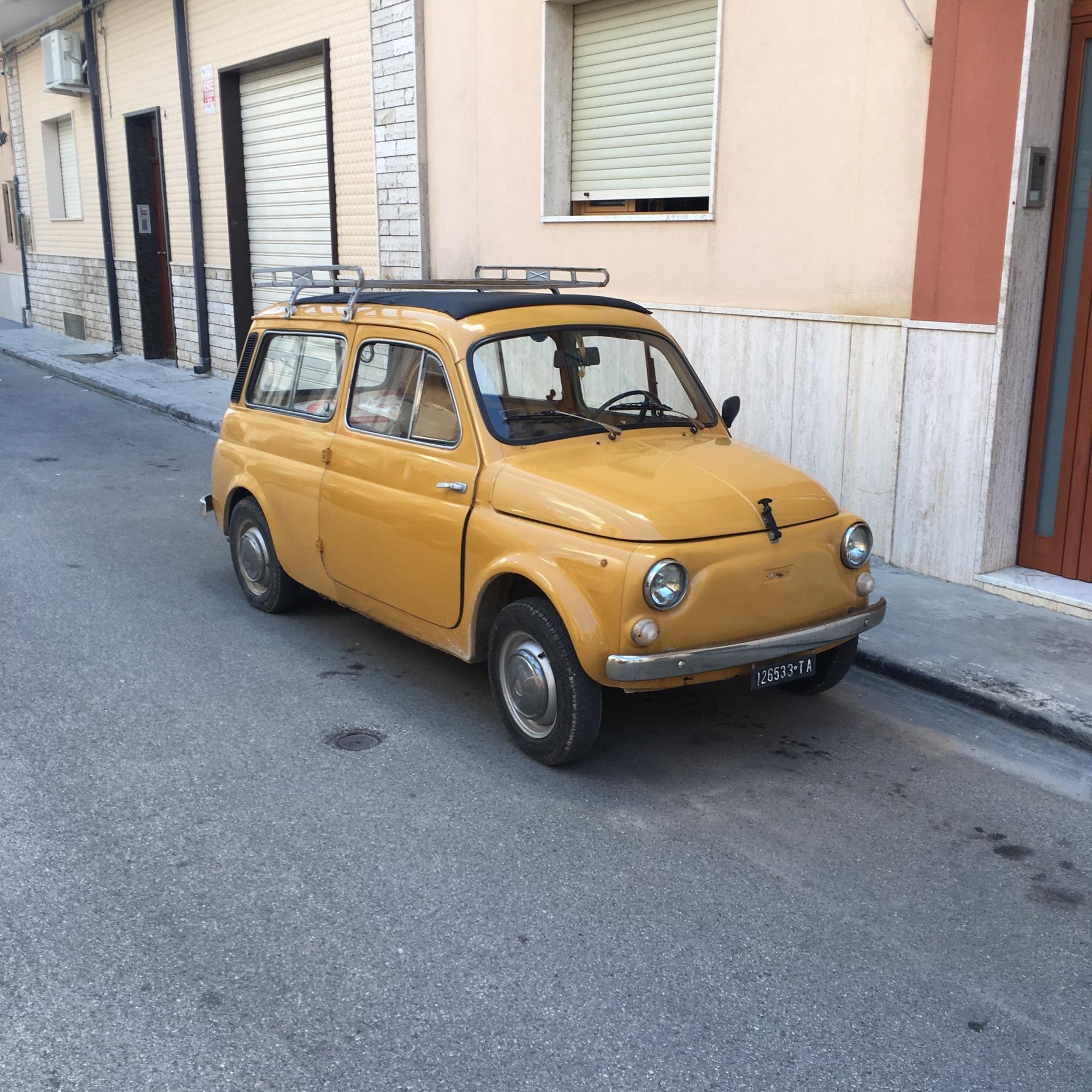 Another Cinquecento Giardiniera, TA being Taranto registration I believe..