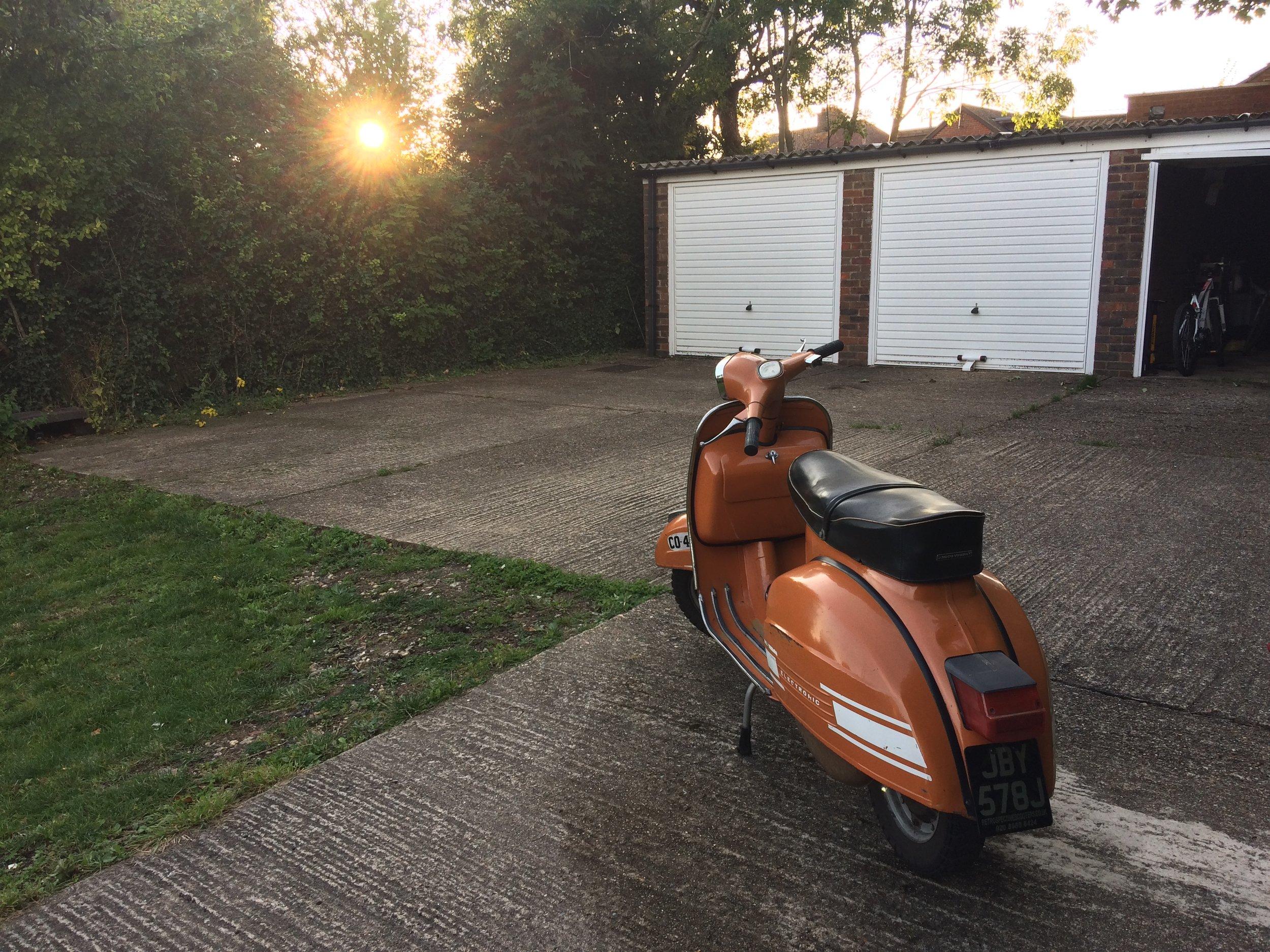 Summer evening scooter wash & wax
