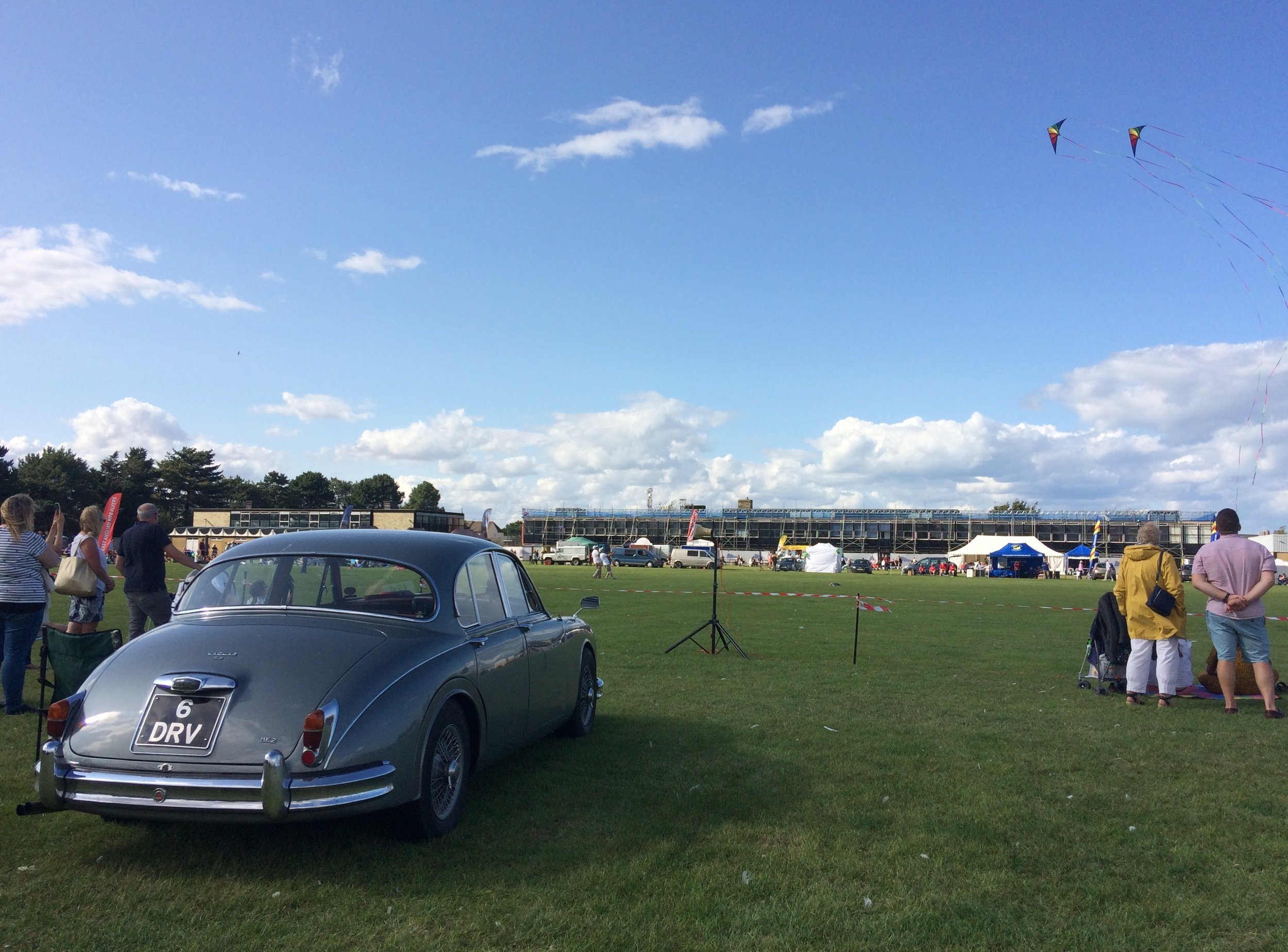 Kites and classics - a pleasant way to spend a sunny August afternoon..