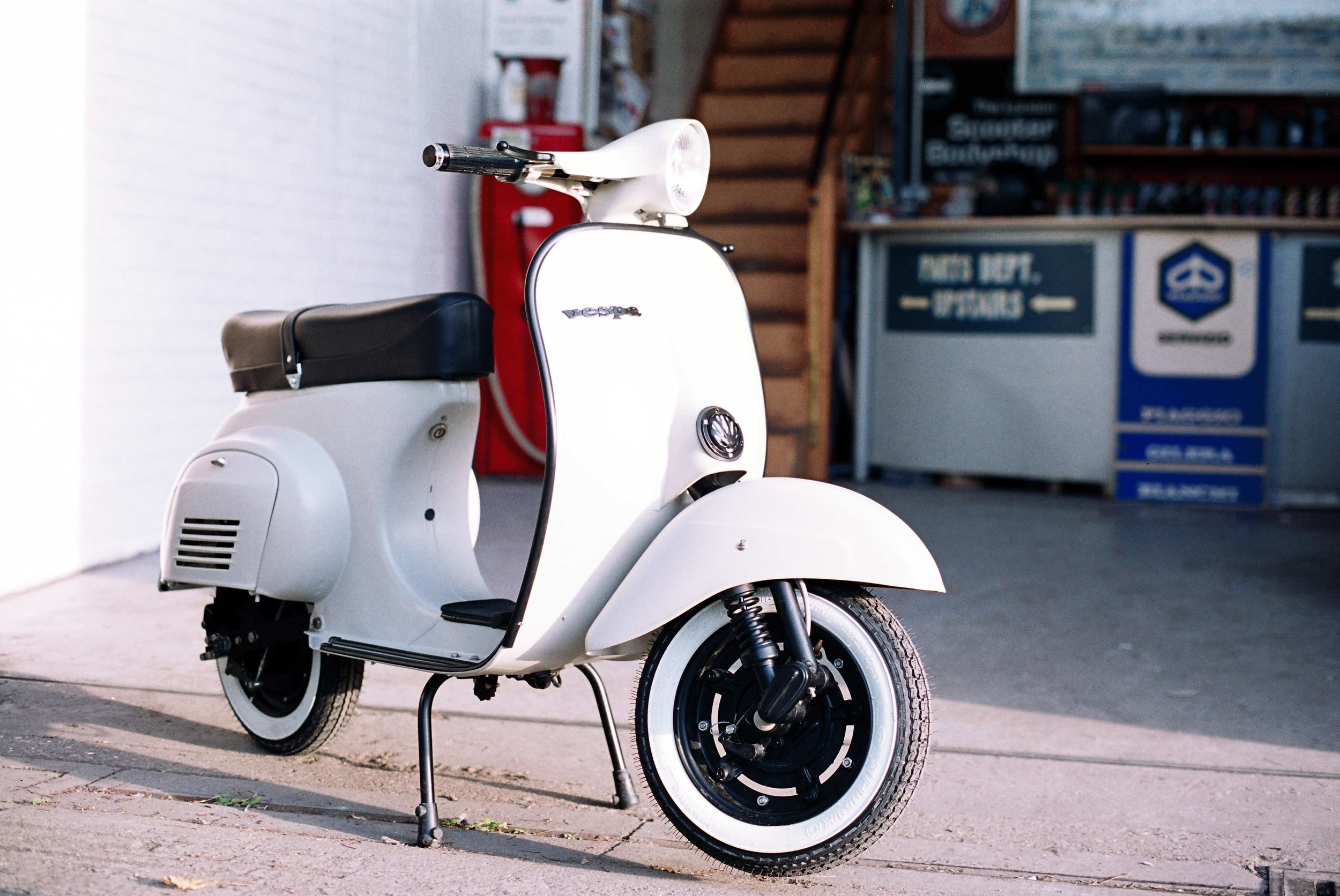 …to a stunning looking electric powered 'classic' scooter…