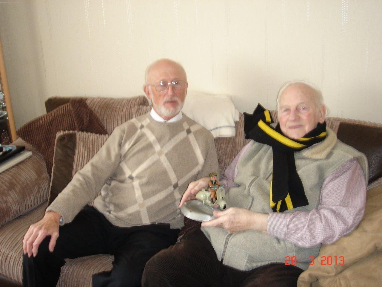 Nigel (left) with Frank