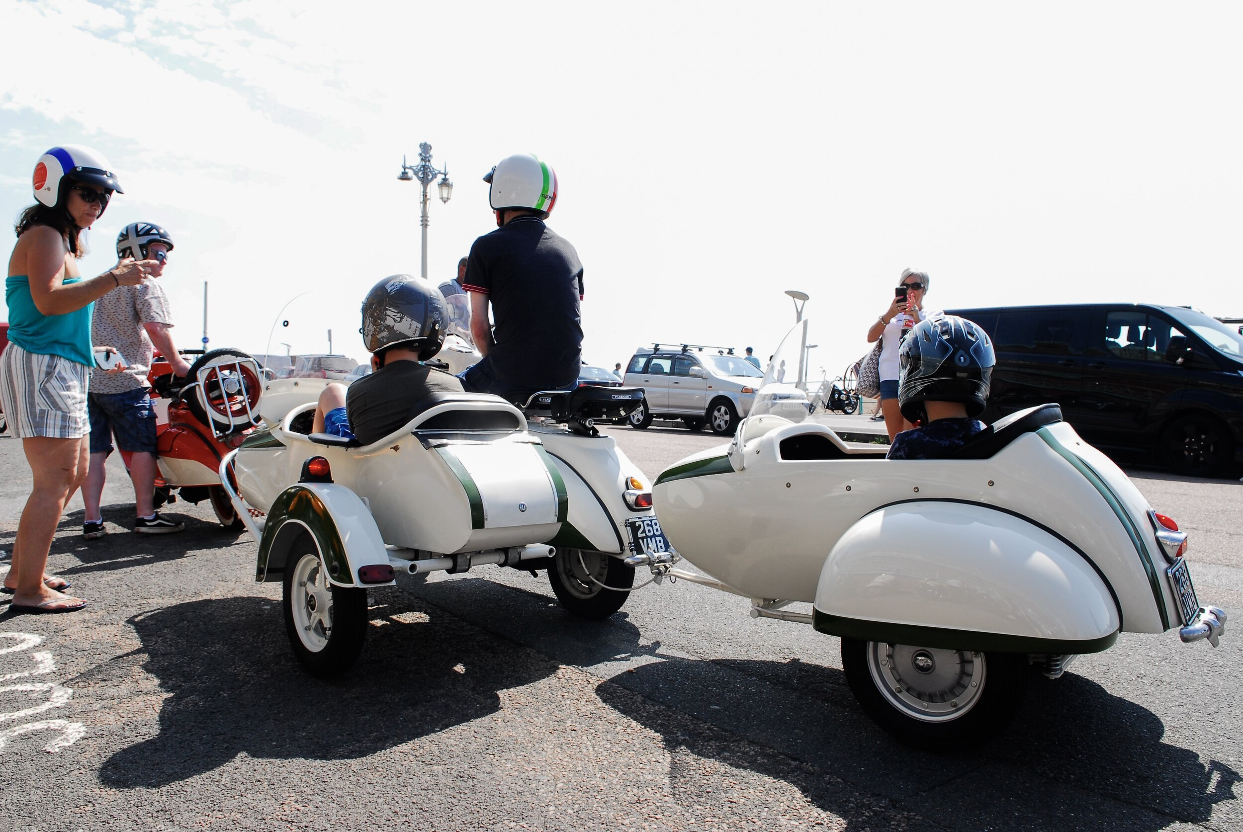 Why have just a sidecar - giving new meaning to the 'family car'…!!
