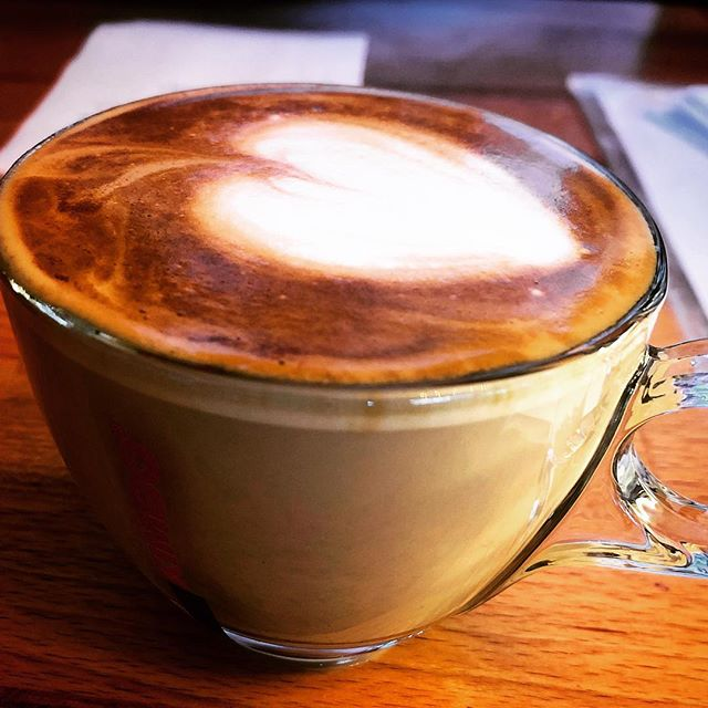 When Santo makes a cappuccino ☕️ #santosartore #cappuccino #fiocchiedinburgh #barista #cafe #kimbo #madewithlove