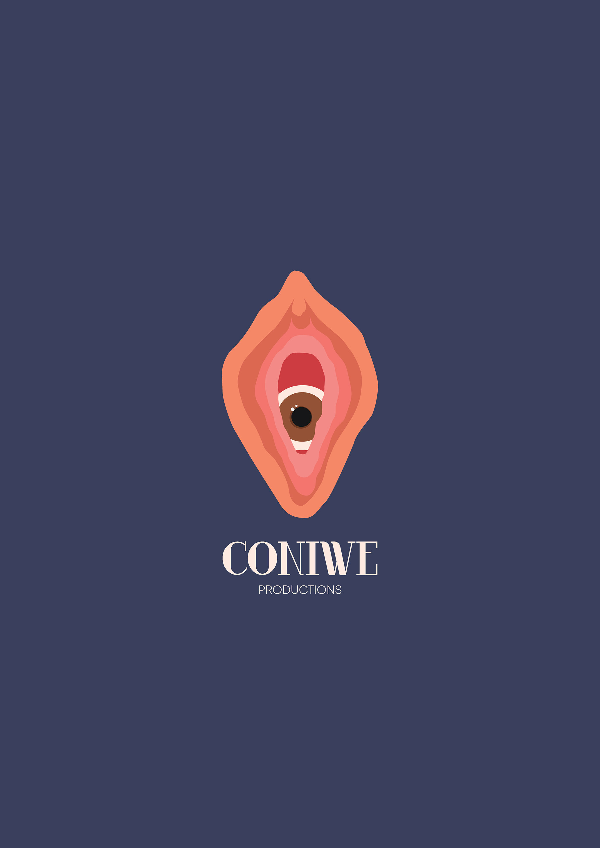 Logo and branding design for CONIWE Productions (Feminist film production company).