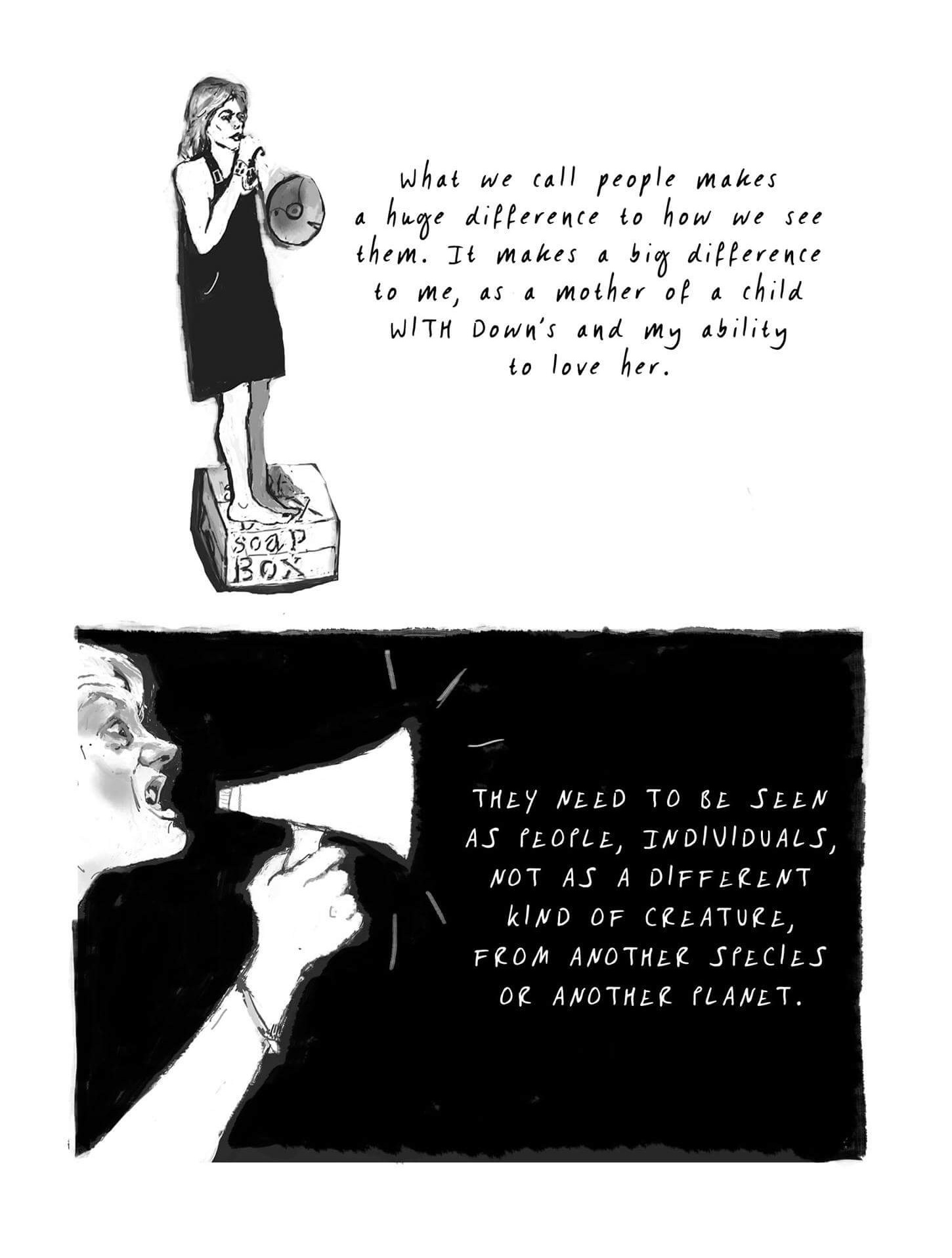 Cartoon by Henny Beaumont from Hole in the Heart - Bringing up Beth