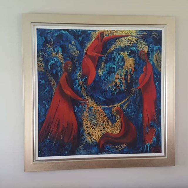 Beautifully framed! #artprints #limitededition #elsarobinsonart #yegart #yegwomanartist #blackwomanart #gicleeprint
