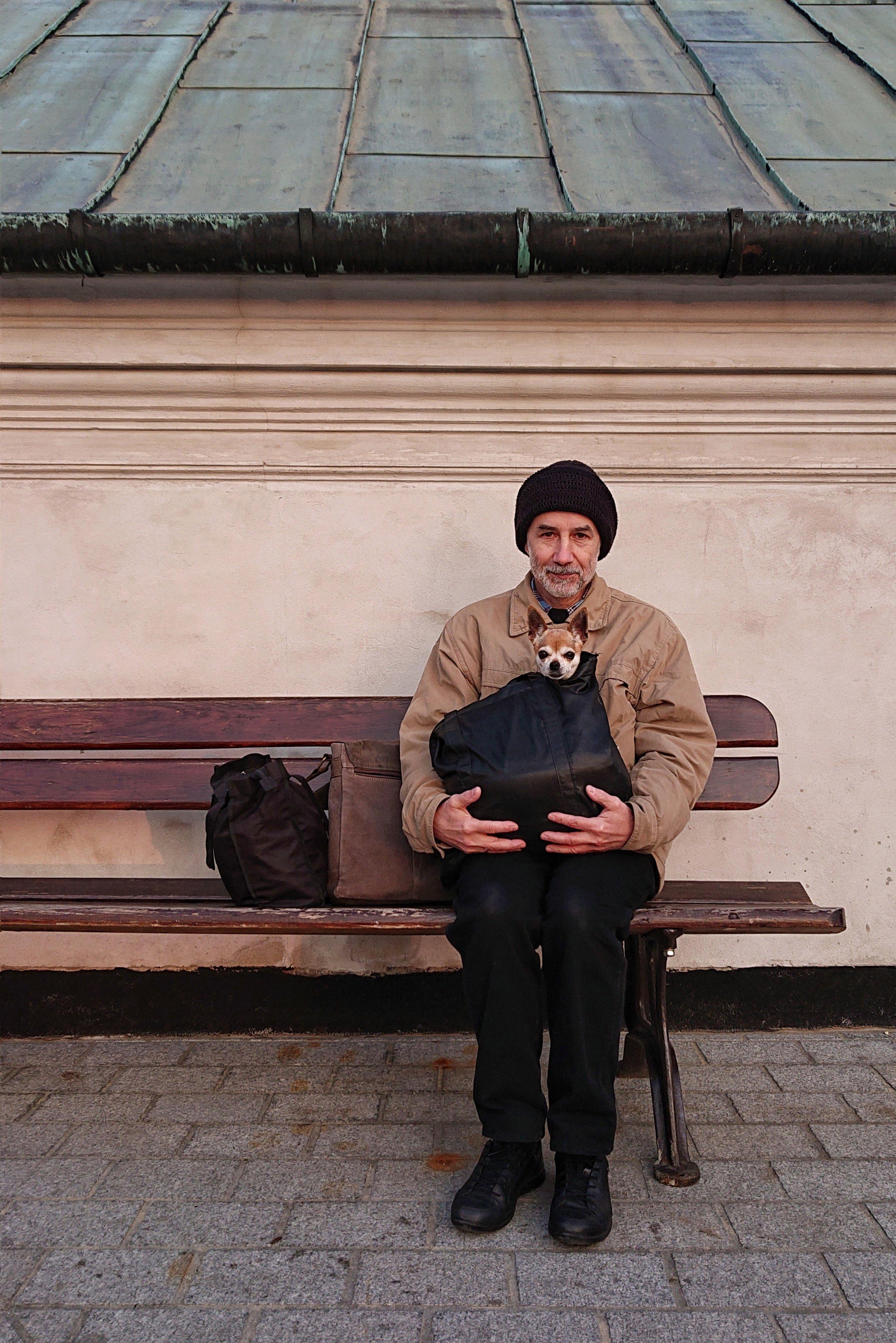 A man and his dog by Dominika Koszowska